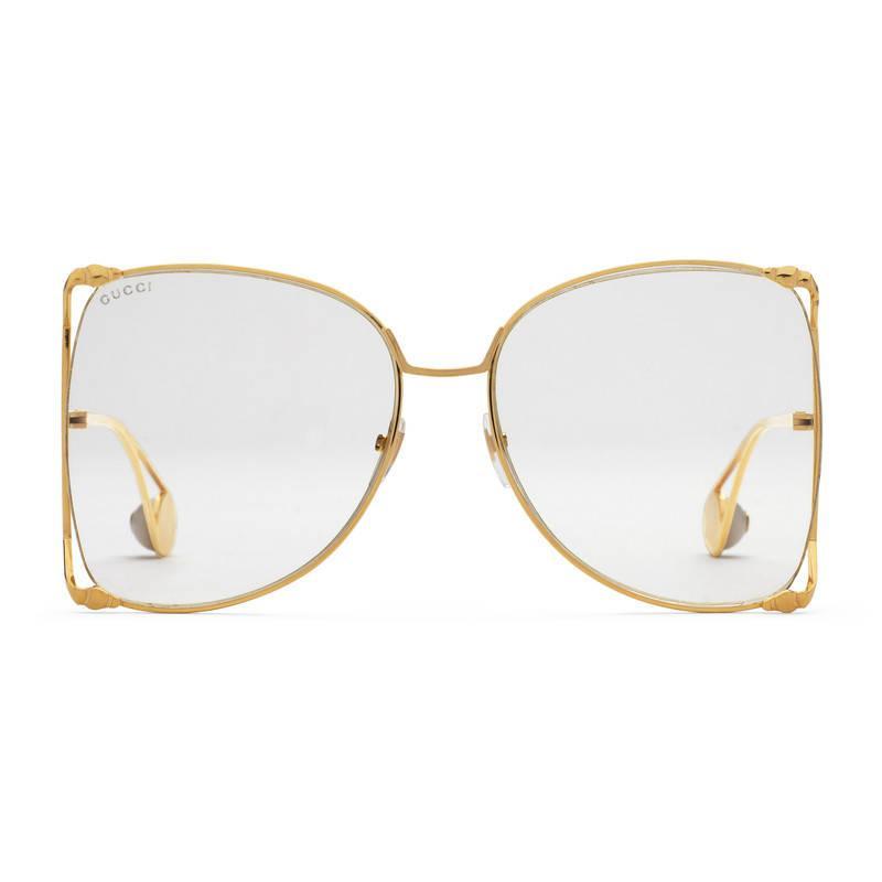 round frame sunglasses - Metallic Gucci A5lOwEl