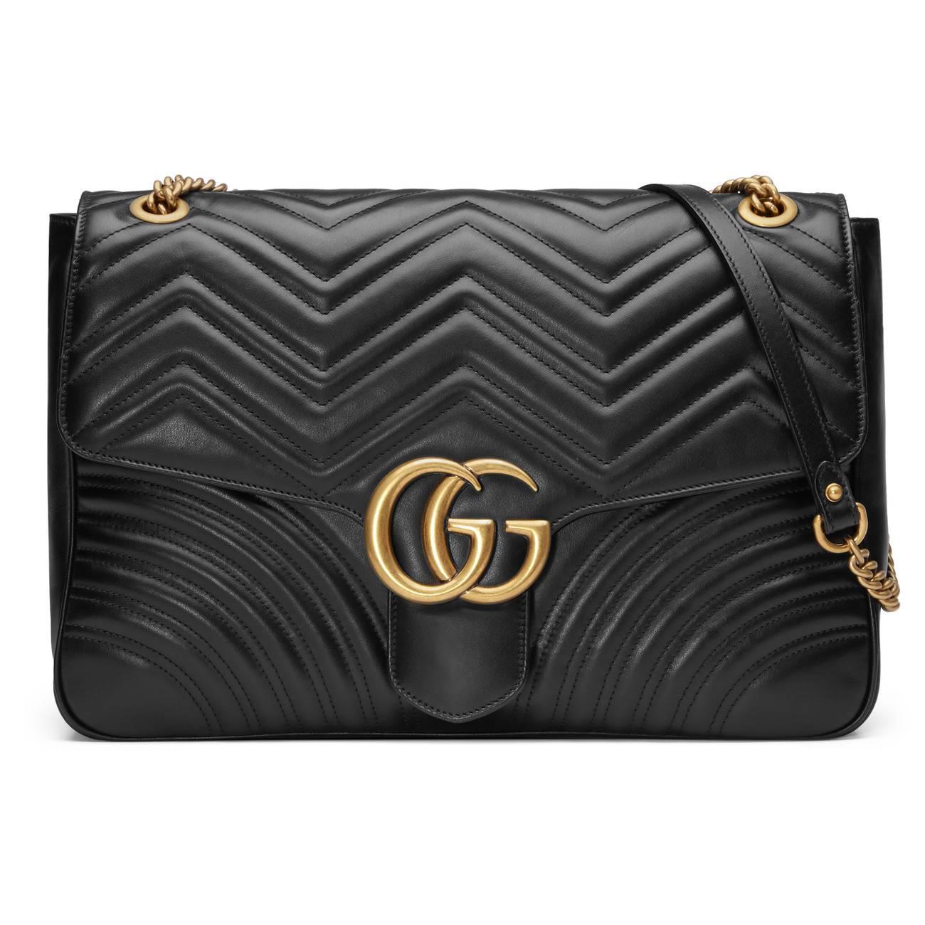 4e7015e37b09 Gucci Gg Marmont Matelassé Shoulder Bag in Black - Lyst
