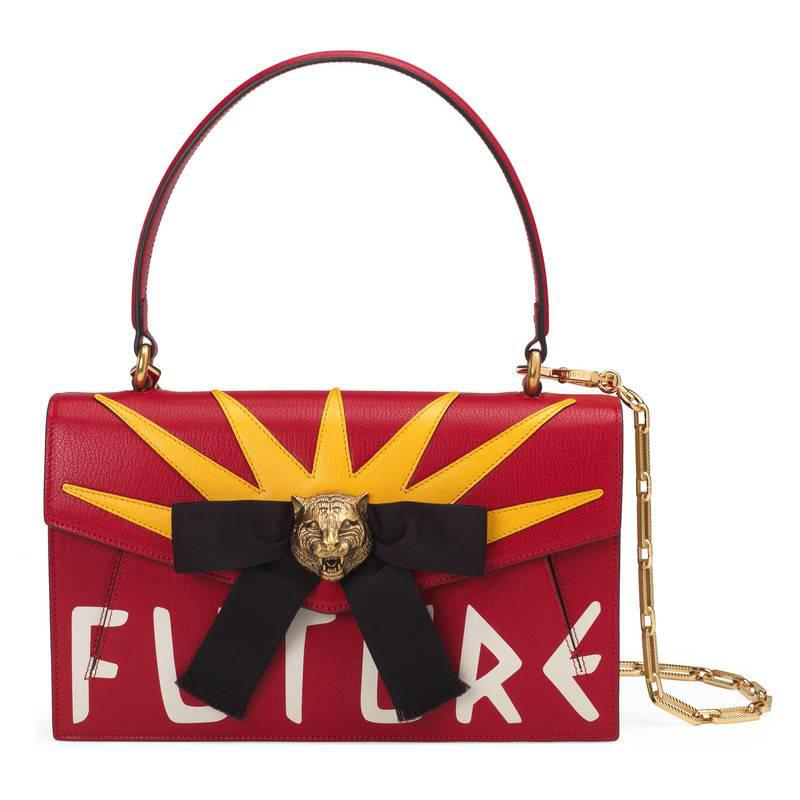 7a8d892a66 Lyst - Gucci Osiride Leather Top Handle Bag in Red