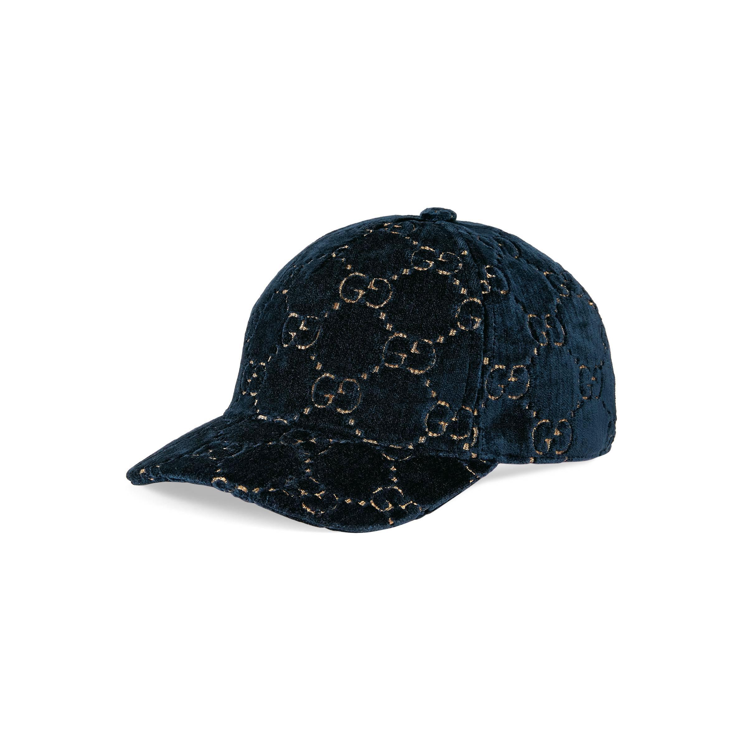 e27dc9fc25ab Lyst - Casquette en velours GG Gucci en coloris Bleu