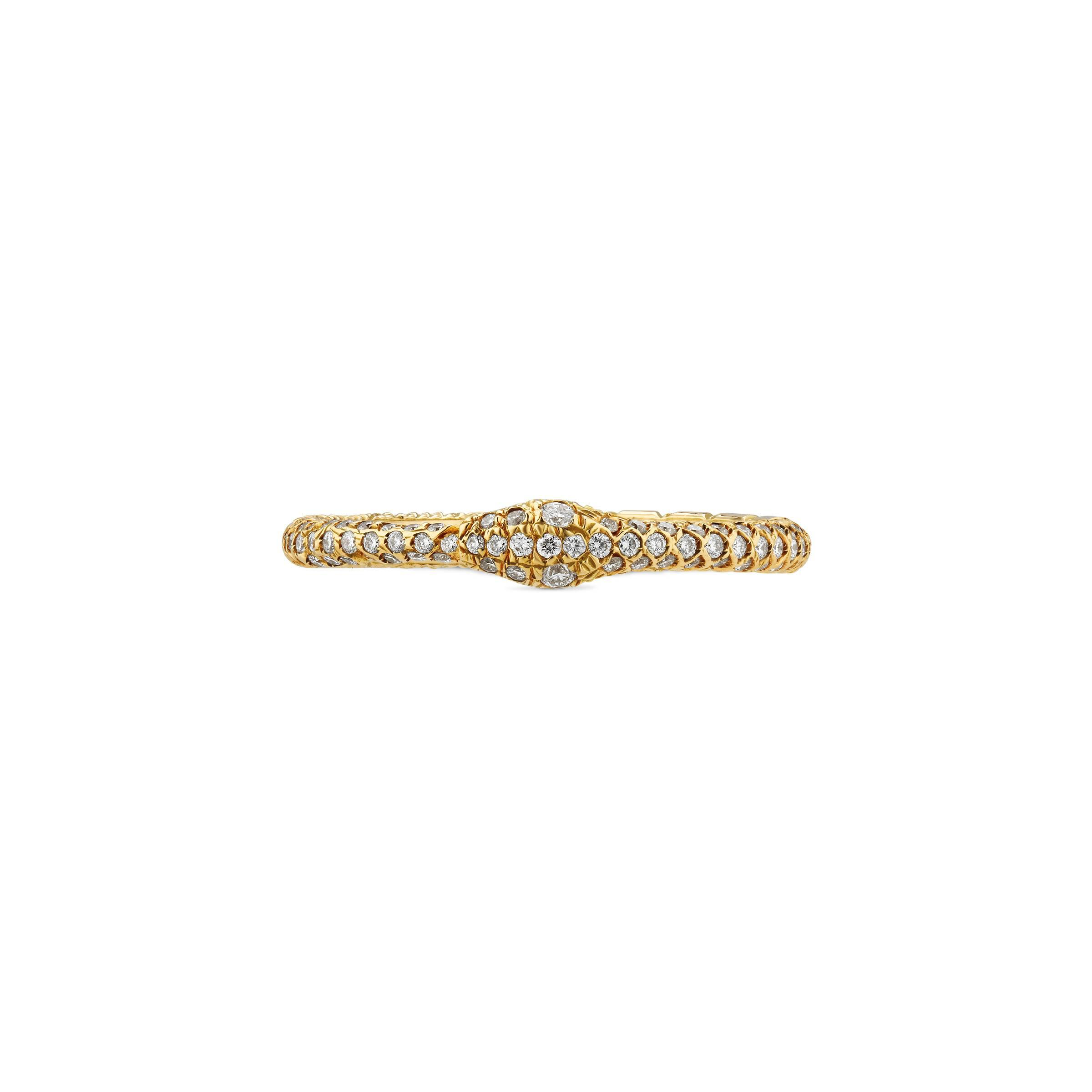 9e772b8cc0 Damen Ouroboros-Ring aus Gold und Diamanten in mettallic