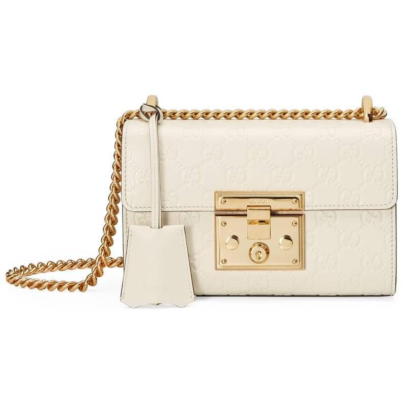 50fb2d3745 Gucci White Padlock Small Leather Shoulder Bag