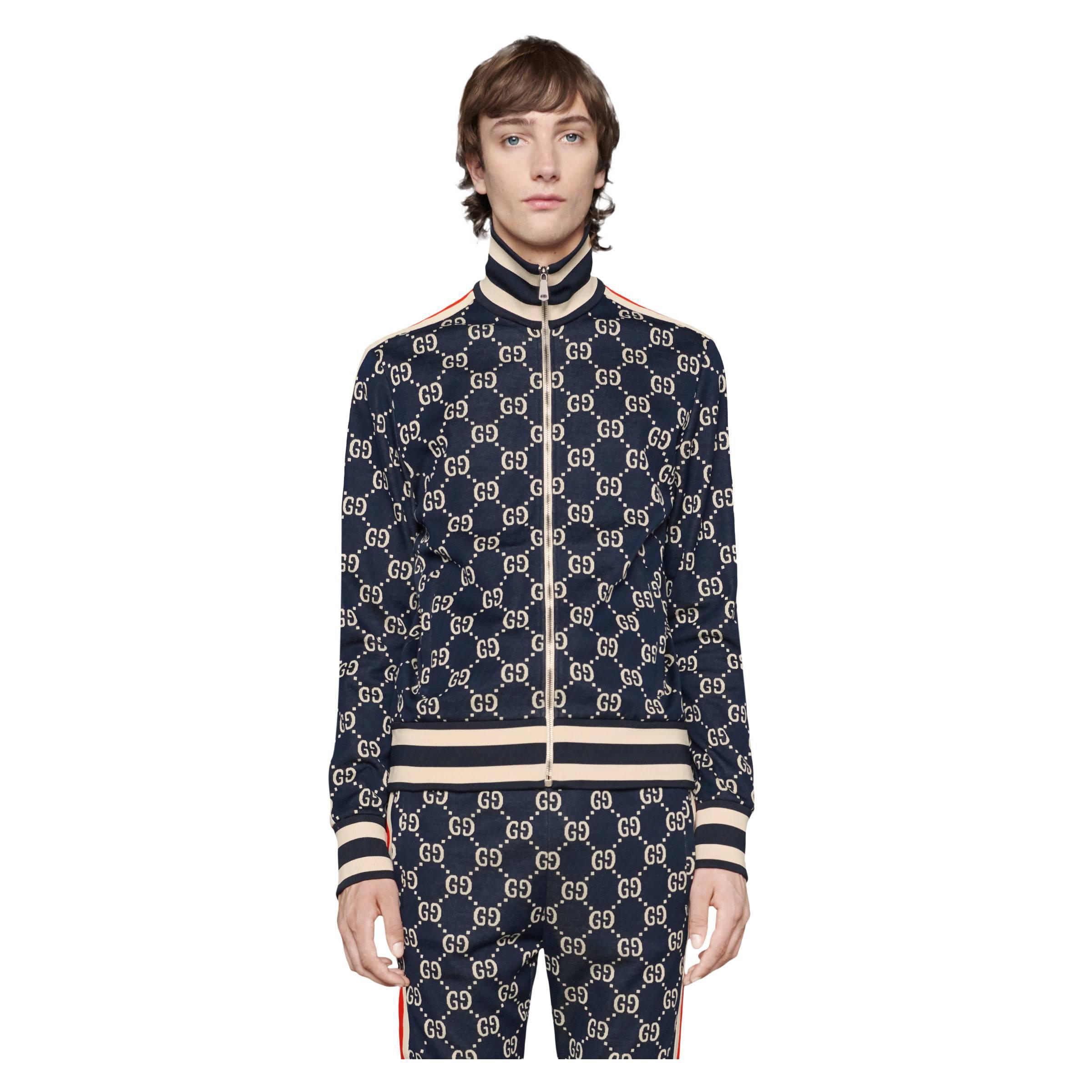 4c400187865 Gucci - Blue Veste en coton jacquard GG for Men - Lyst. Afficher en plein  écran