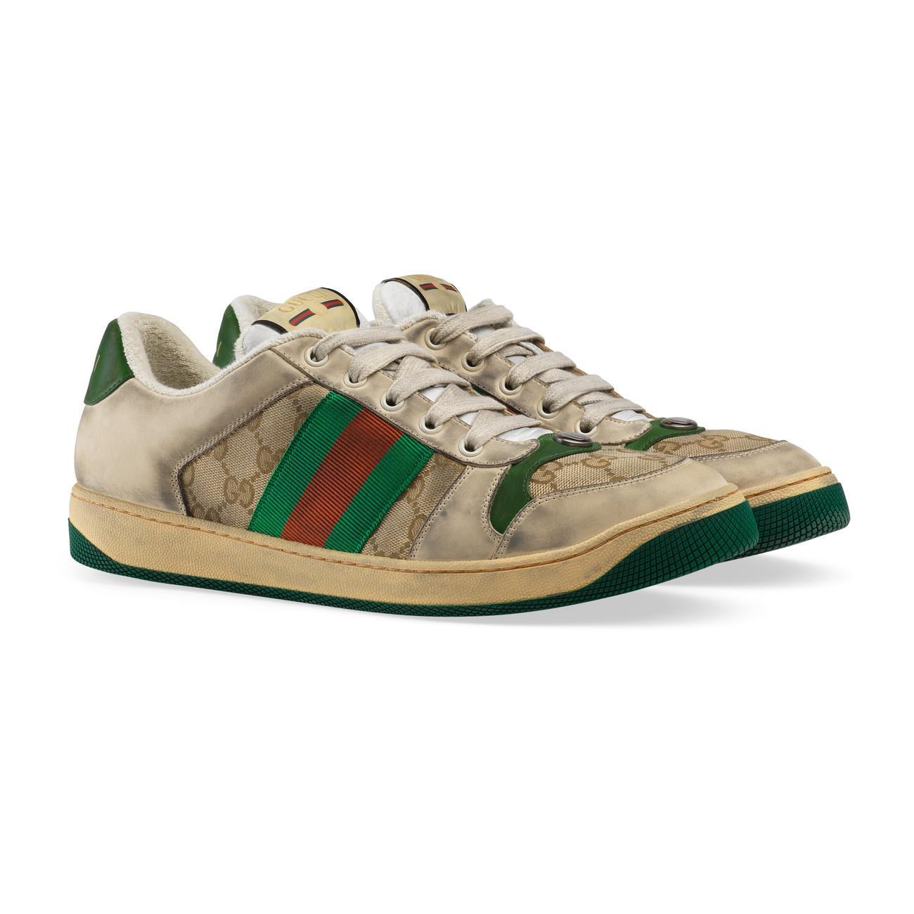 0d4985837e7 Gucci - Green Men s Screener GG Sneaker for Men - Lyst. View fullscreen