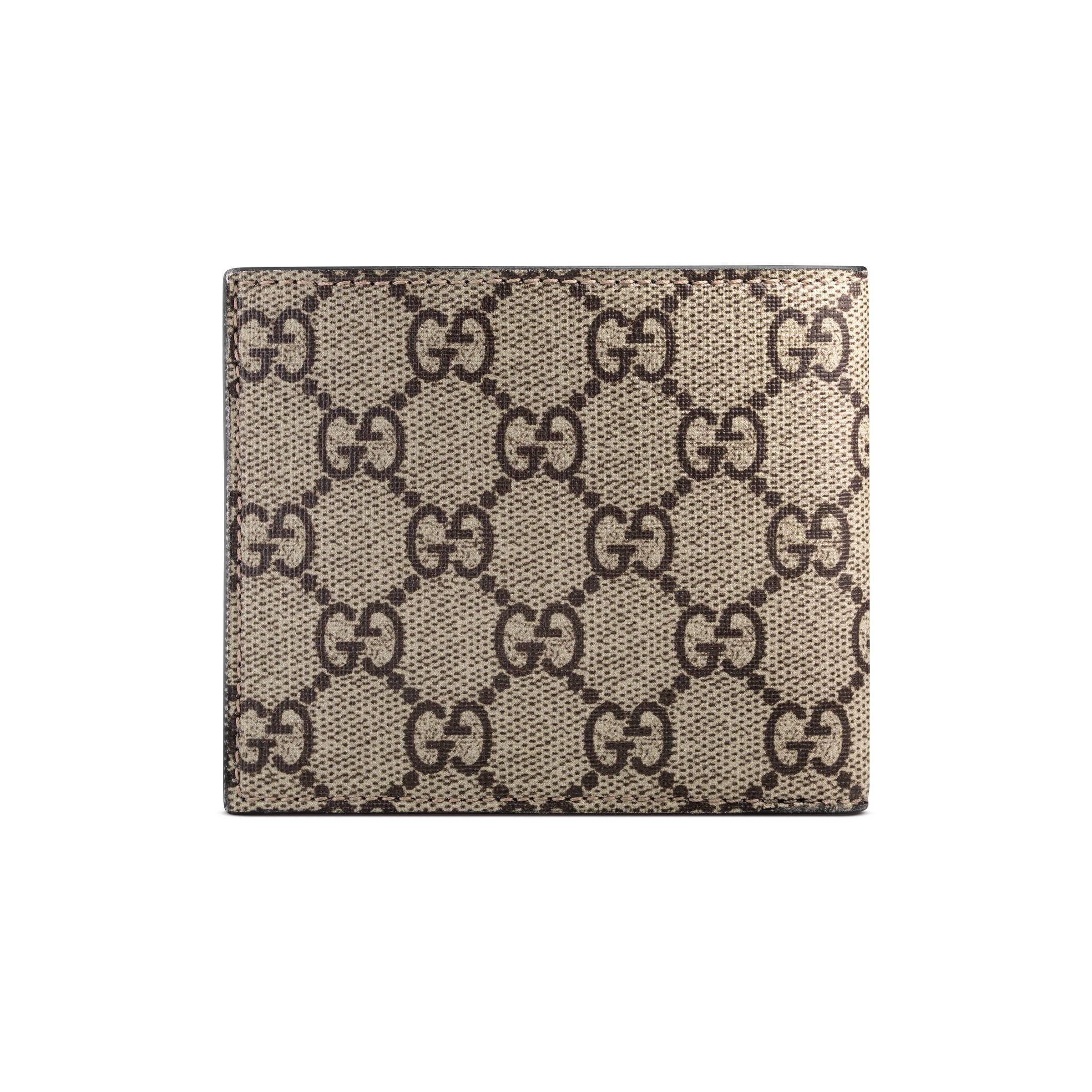 cc549cc81477 Gucci - Natural Bee Print GG Supreme Wallet for Men - Lyst. View fullscreen