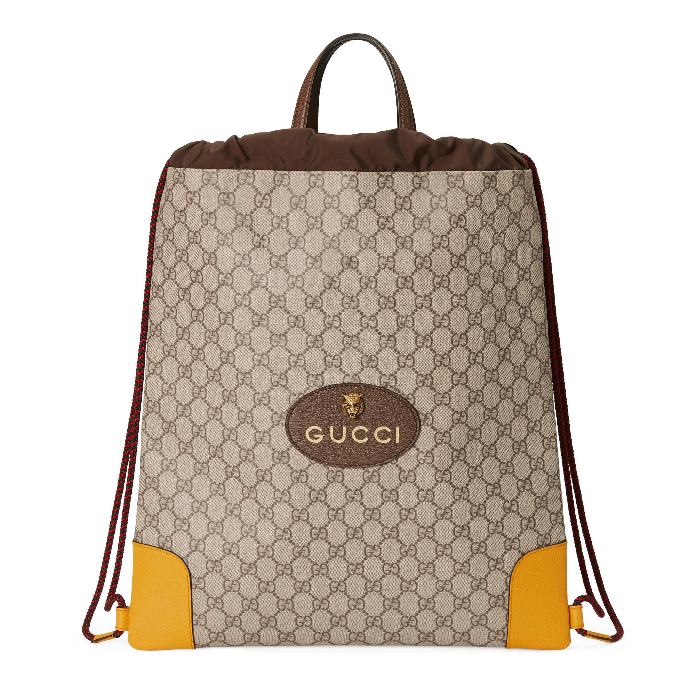 dcb486ec4 Gucci - Natural Mochila GG Supreme con Tira for Men - Lyst. Ver en pantalla  completa