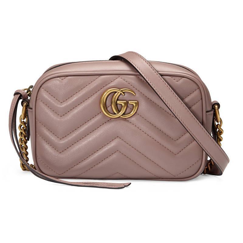 7b134b29184b Lyst - Gucci Gg Marmont Matelassé Mini Bag - Save 16%
