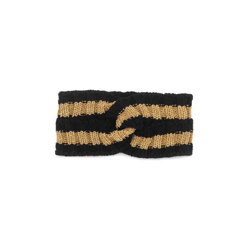 dcd670ec09f Gucci Wool Lurex Headband in Black - Lyst