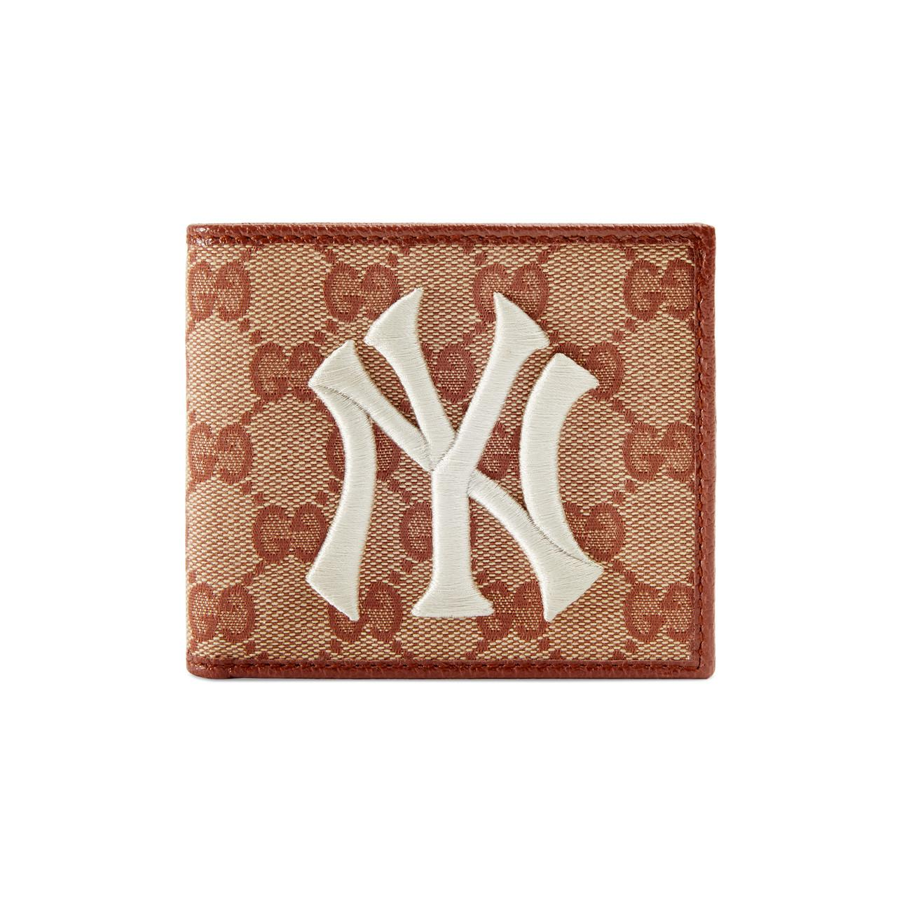 9dc299dbe1fbe8 Gucci Original GG Canvas Wallet With New York Yankees Patchtm for ...