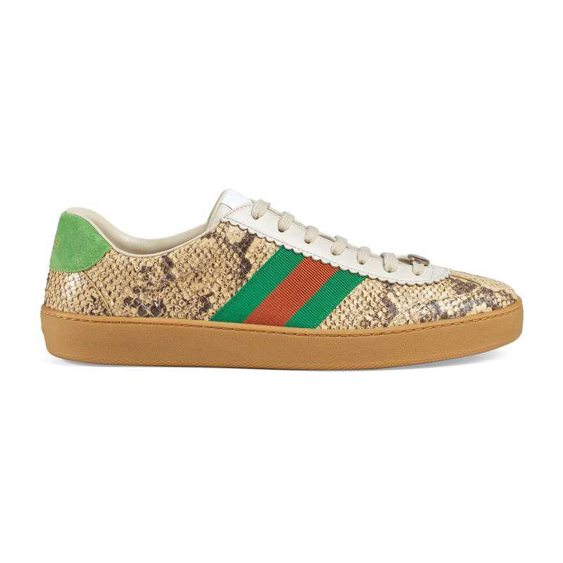 Gucci Leather G74 Python Sneaker With