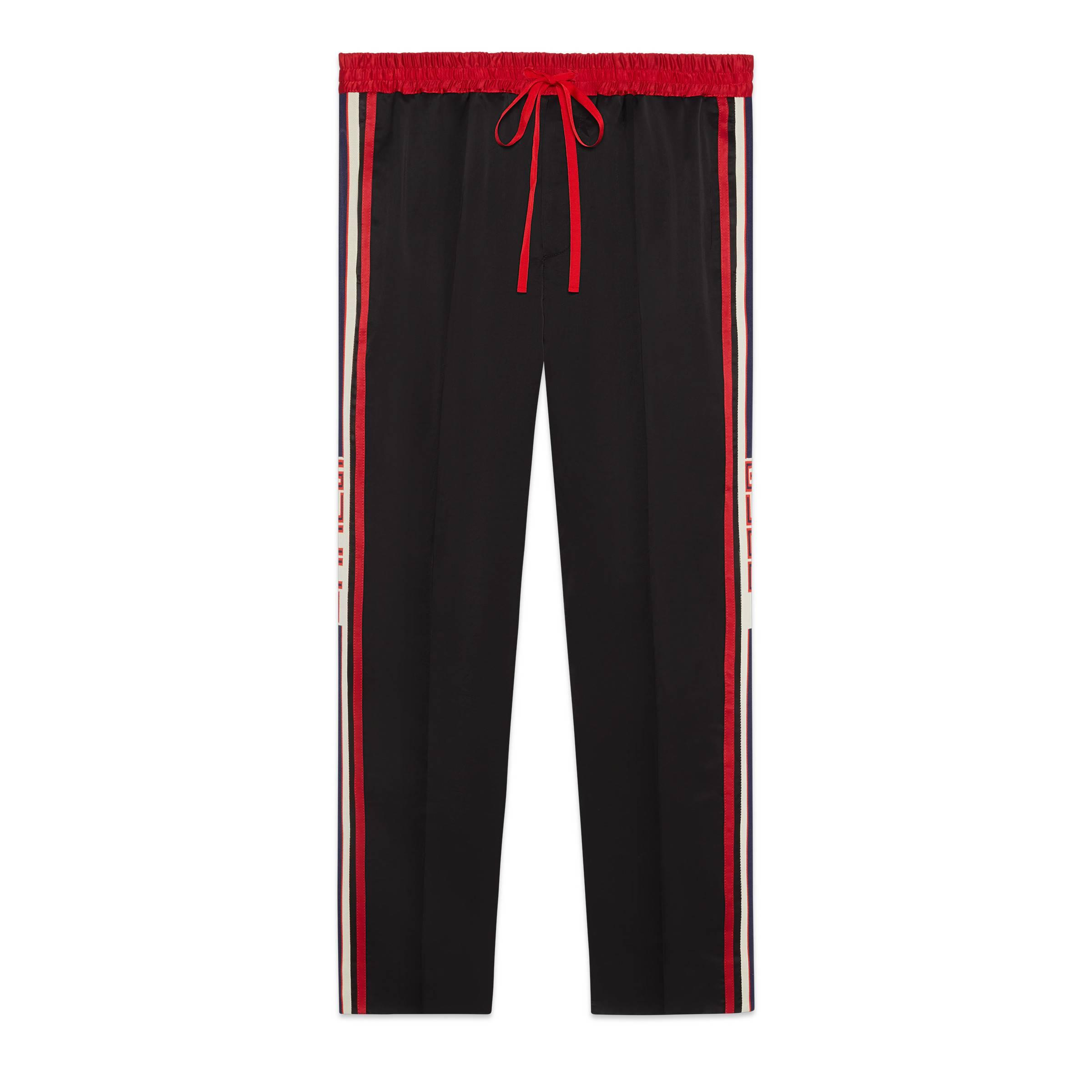4c2faee54 Pantalón de Chándal de Acetato Gucci de hombre de color Negro - Lyst