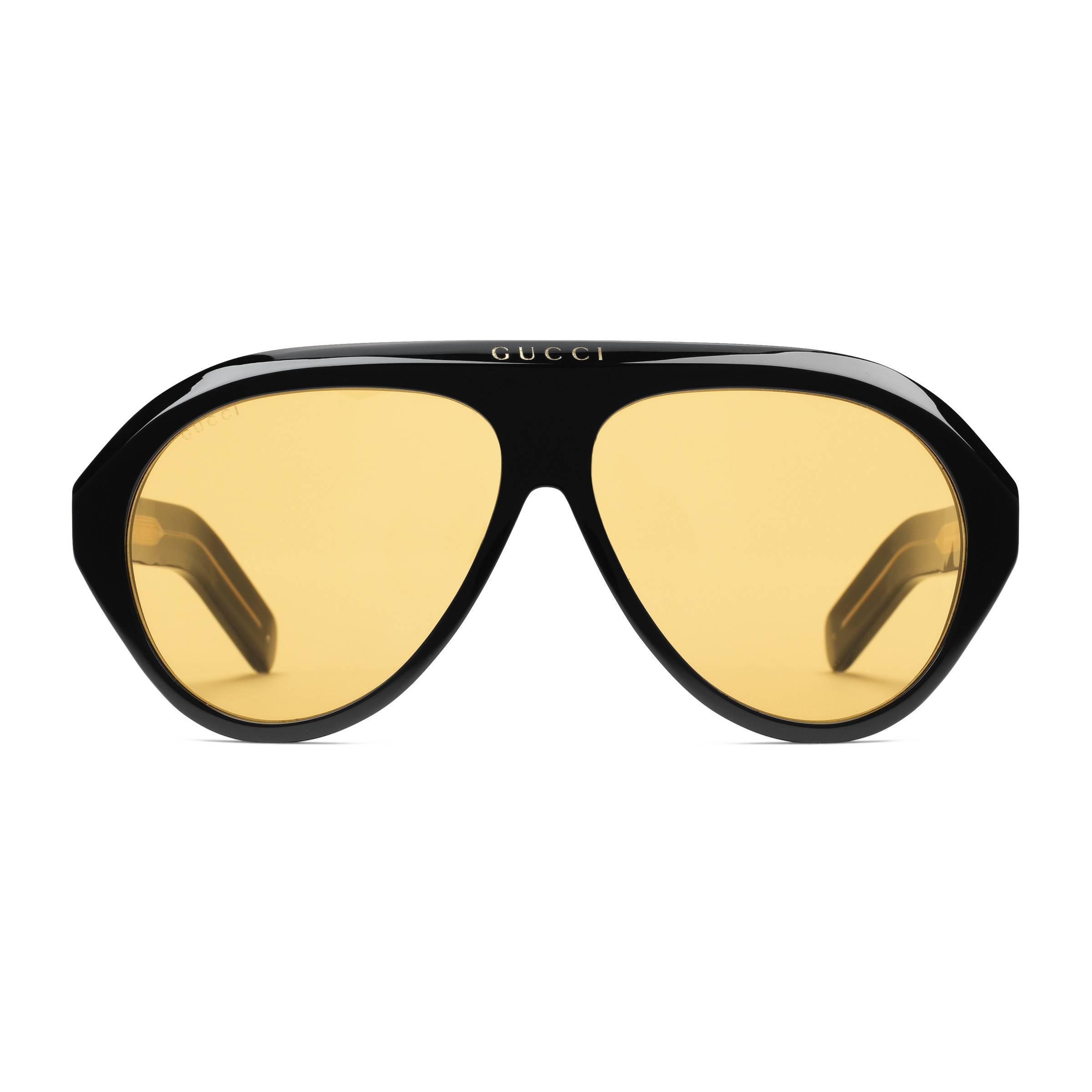 bc77f4309e Gafas de sol tipo navigator con Doble G Gucci de hombre de color ...