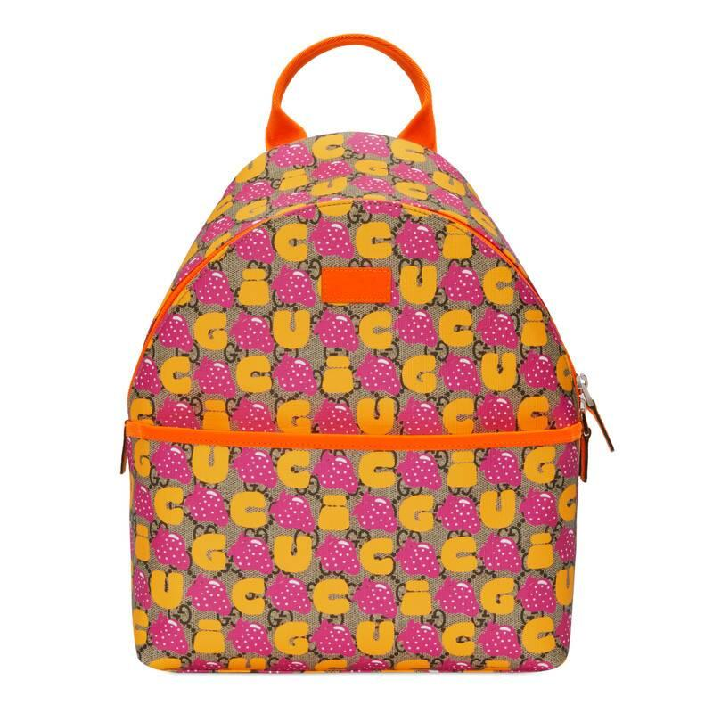 4c743fd90e5 Gucci Children's GG Strawberry Backpack in Red - Lyst