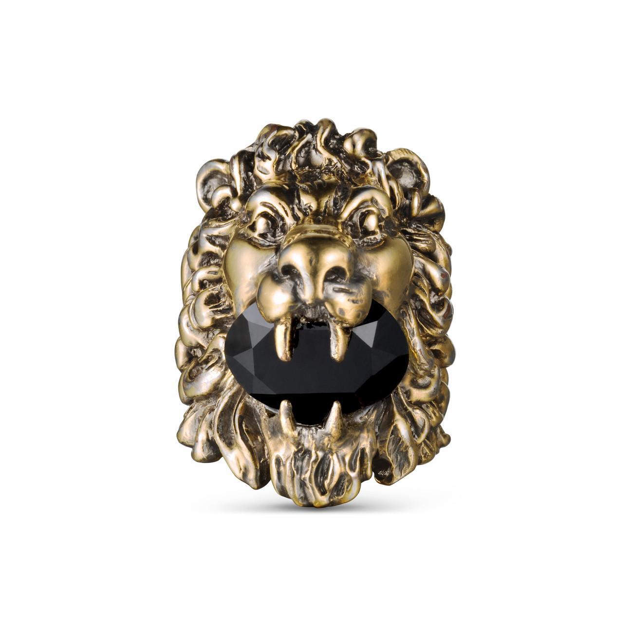 102f931c6 Gucci Lion Head Ring With Swarovski - Lyst