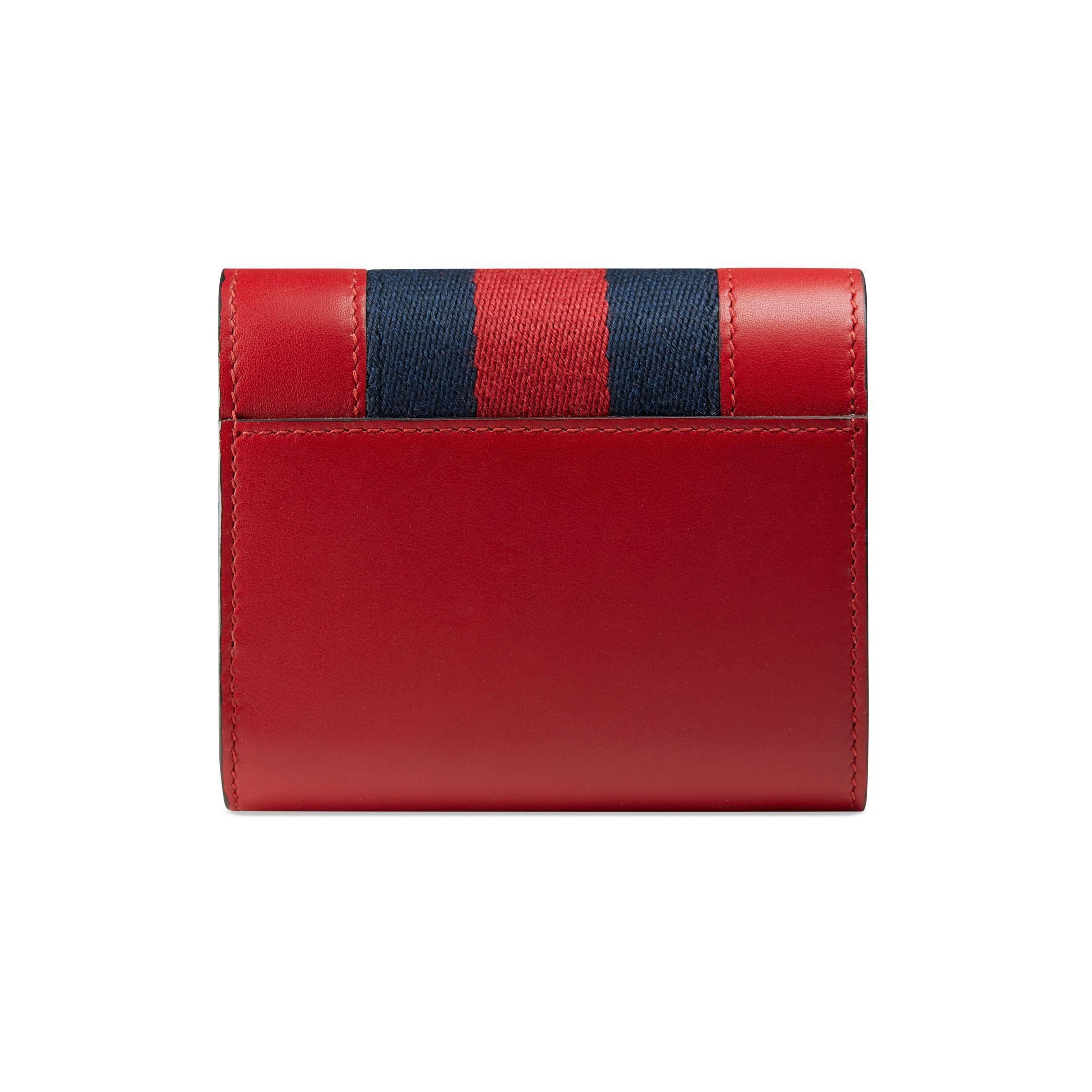 ac480ea5151 Gucci - Red Portefeuille Sylvie en cuir - Lyst. Afficher en plein écran