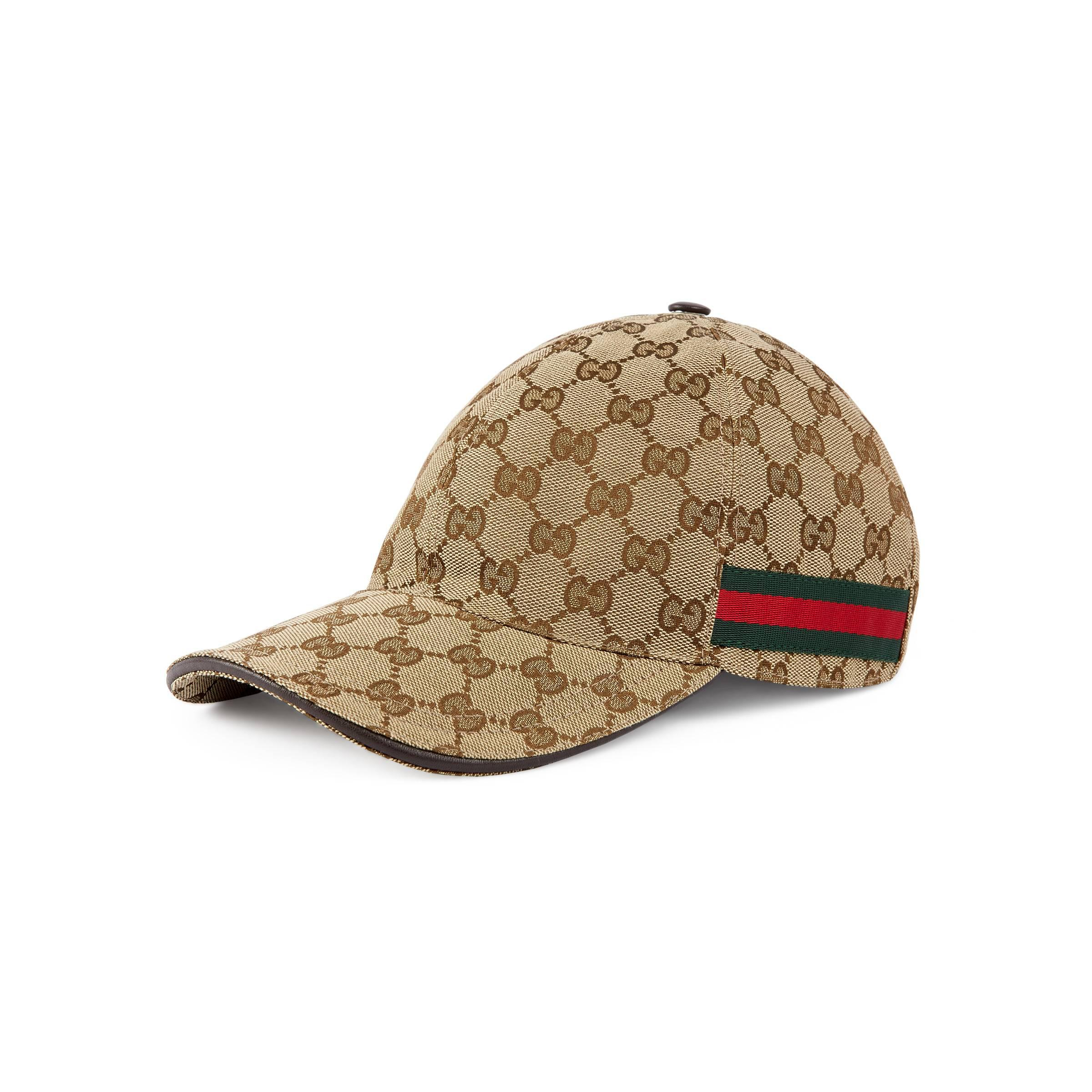 3672e203c6f Gucci Original GG Canvas Baseball Hat With Web in Natural - Save 18 ...