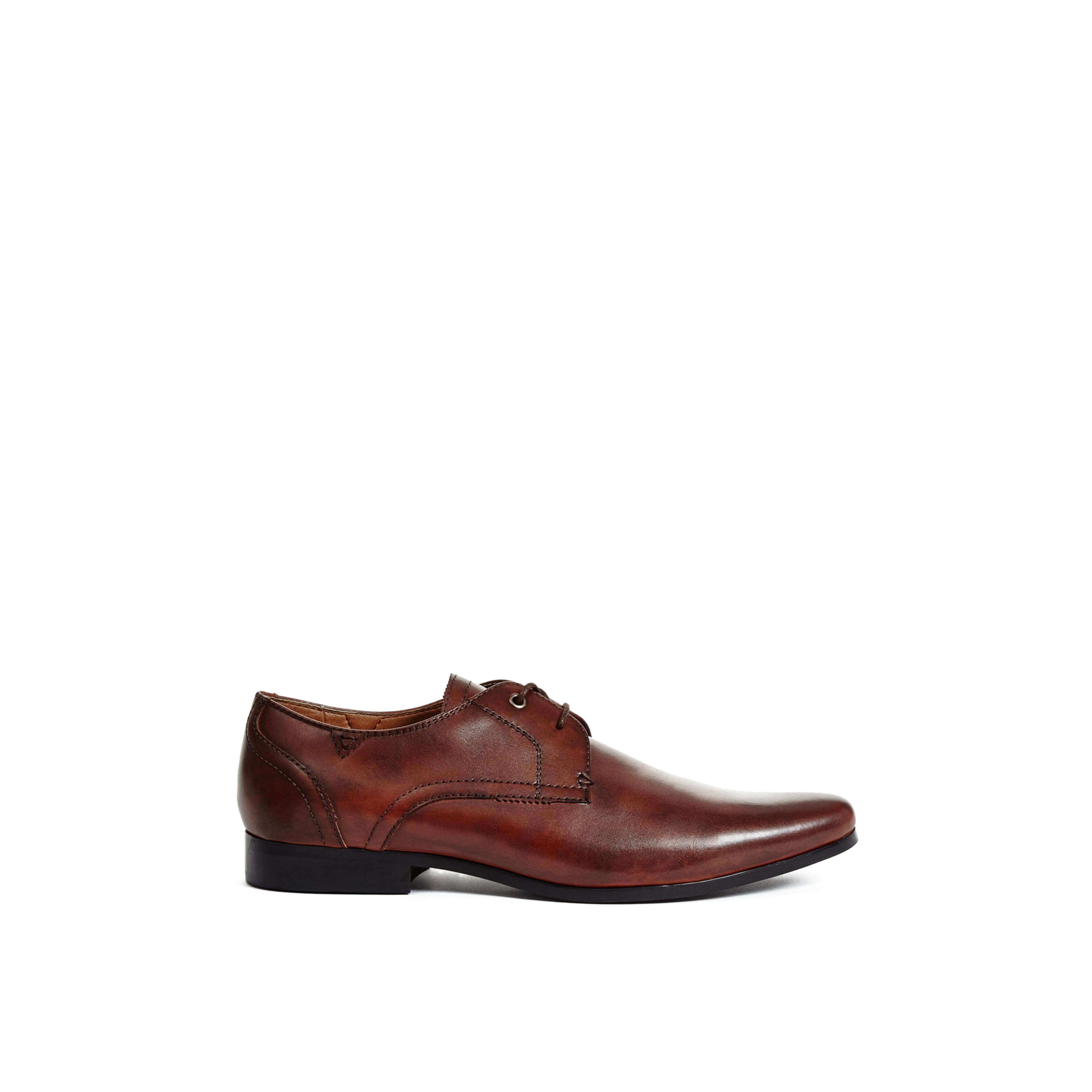 guess georgie derby dress shoe in brown for lyst