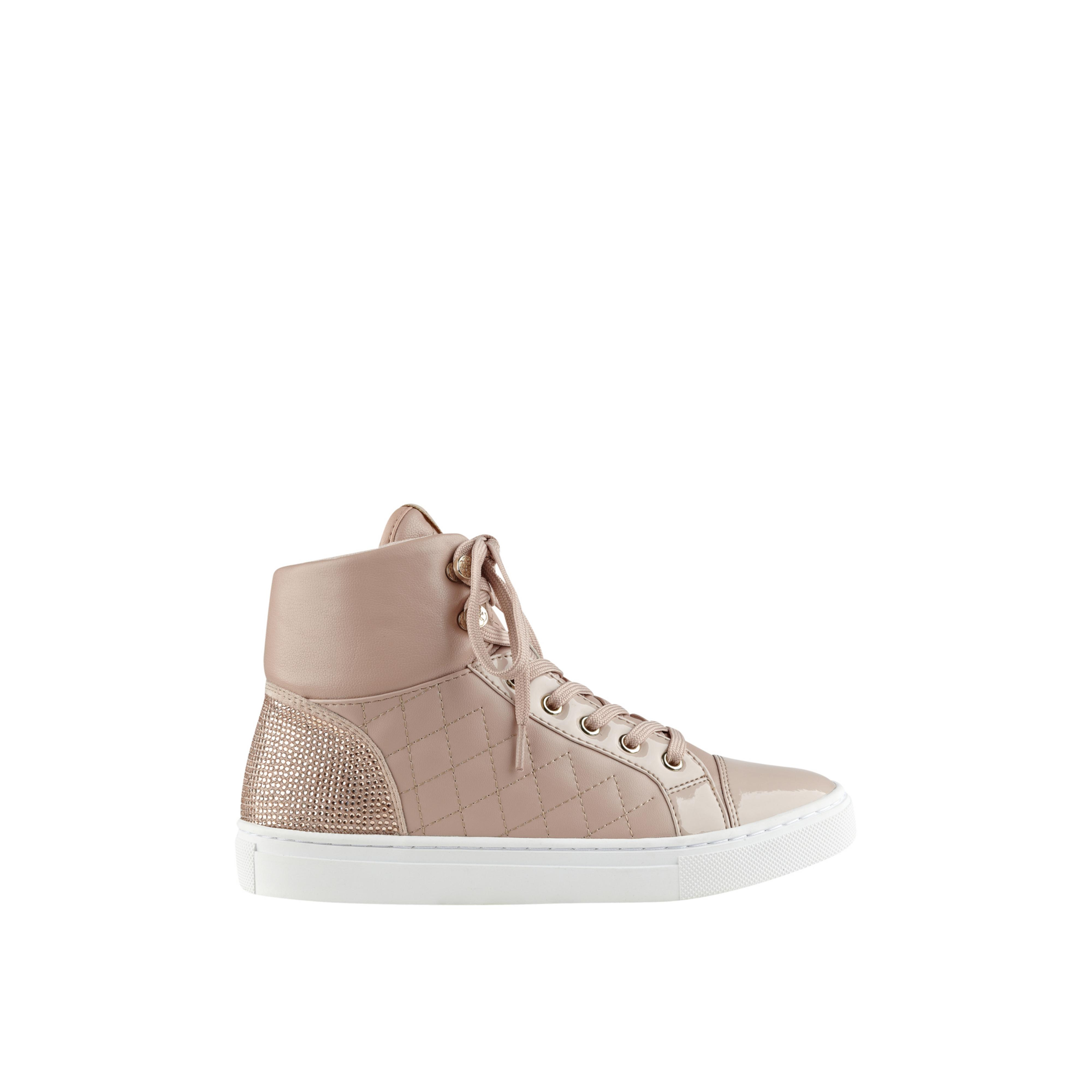 Guess Janis Quilted High Top Sneakers In Pink Save 26