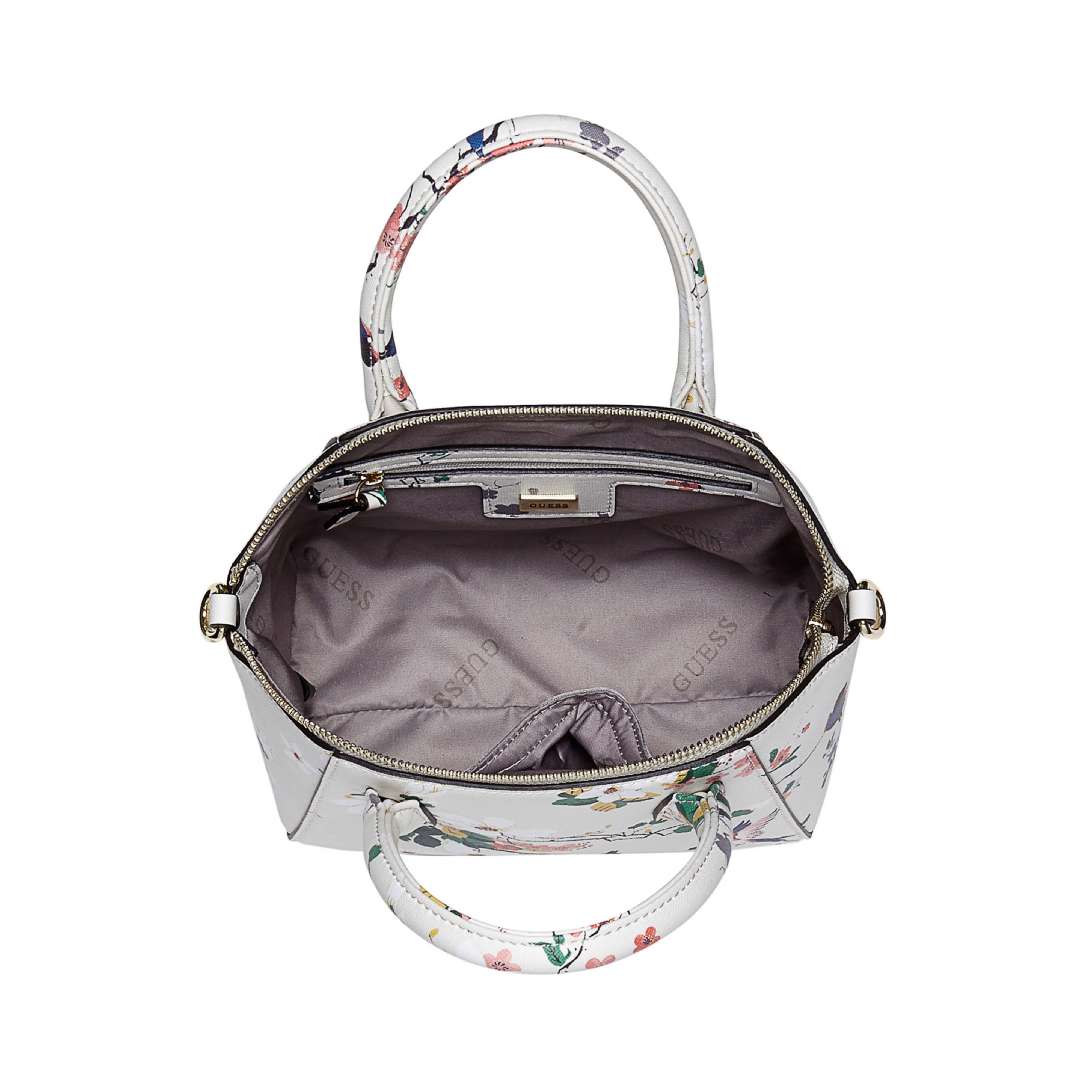 Guess Isabeau Small Floral Handbag In White | Lyst