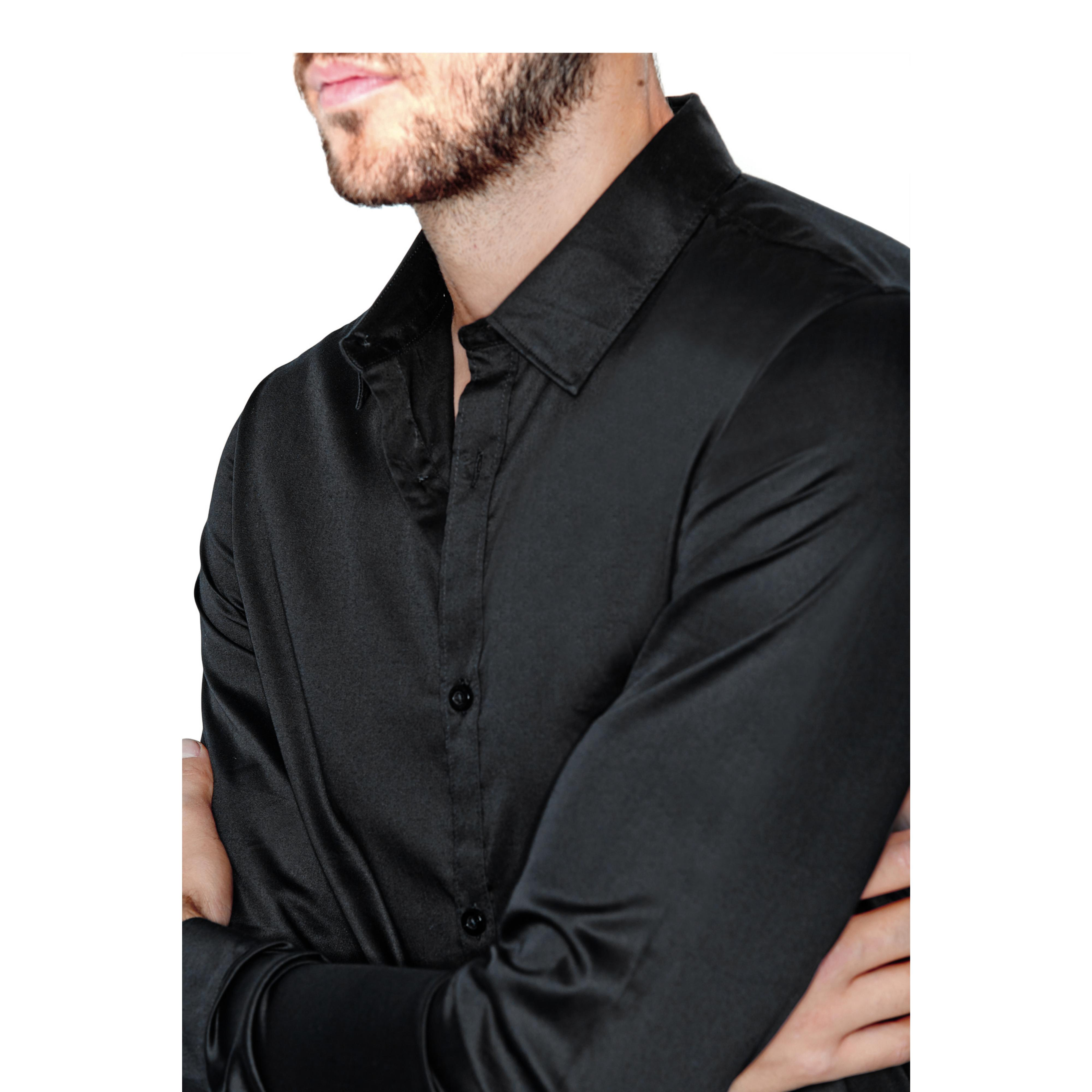 Guess Miller Long Sleeve Super Slim Fit Shirt In Black For