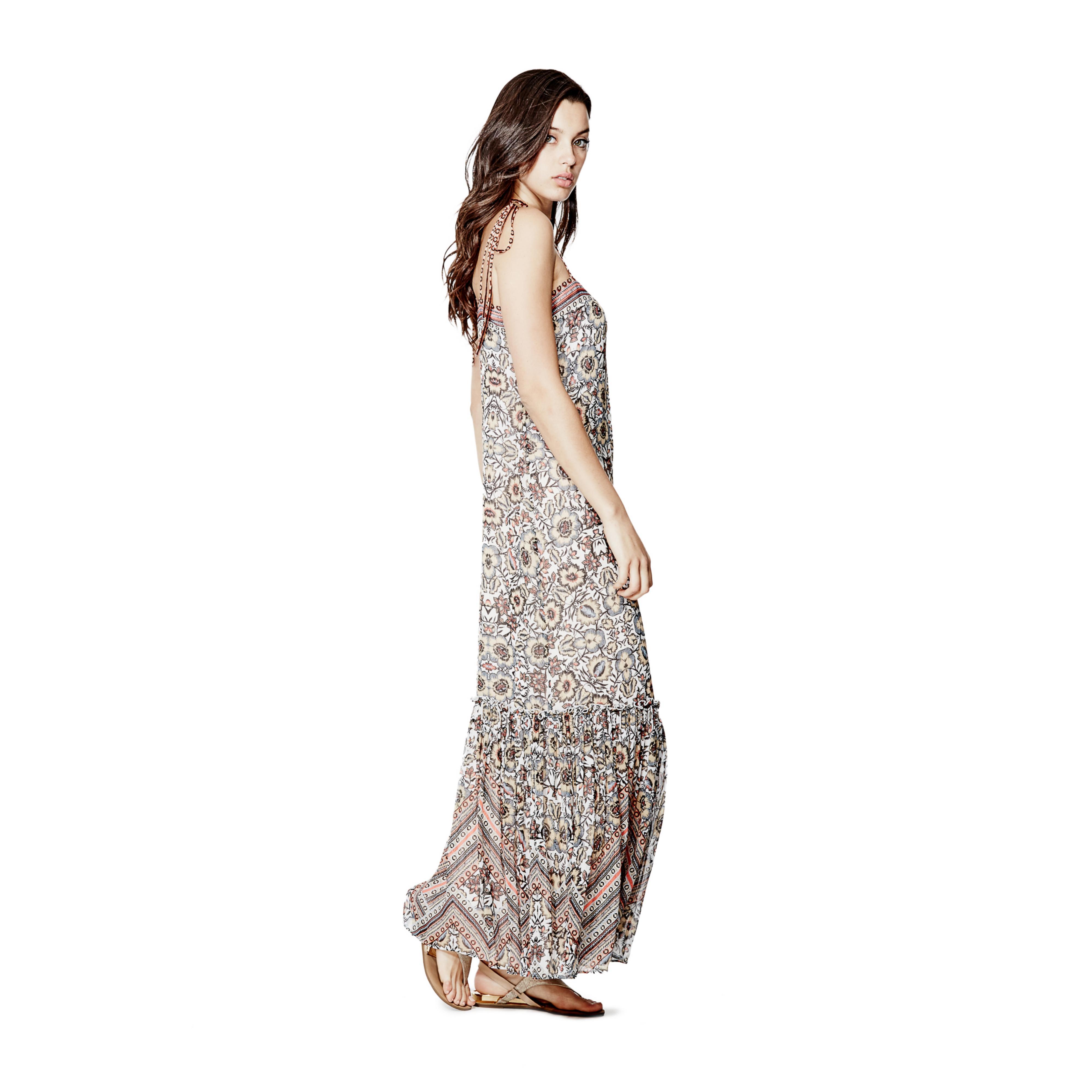aa268596d7 Lyst - Guess Eris Sleeveless Maxi Dress in White