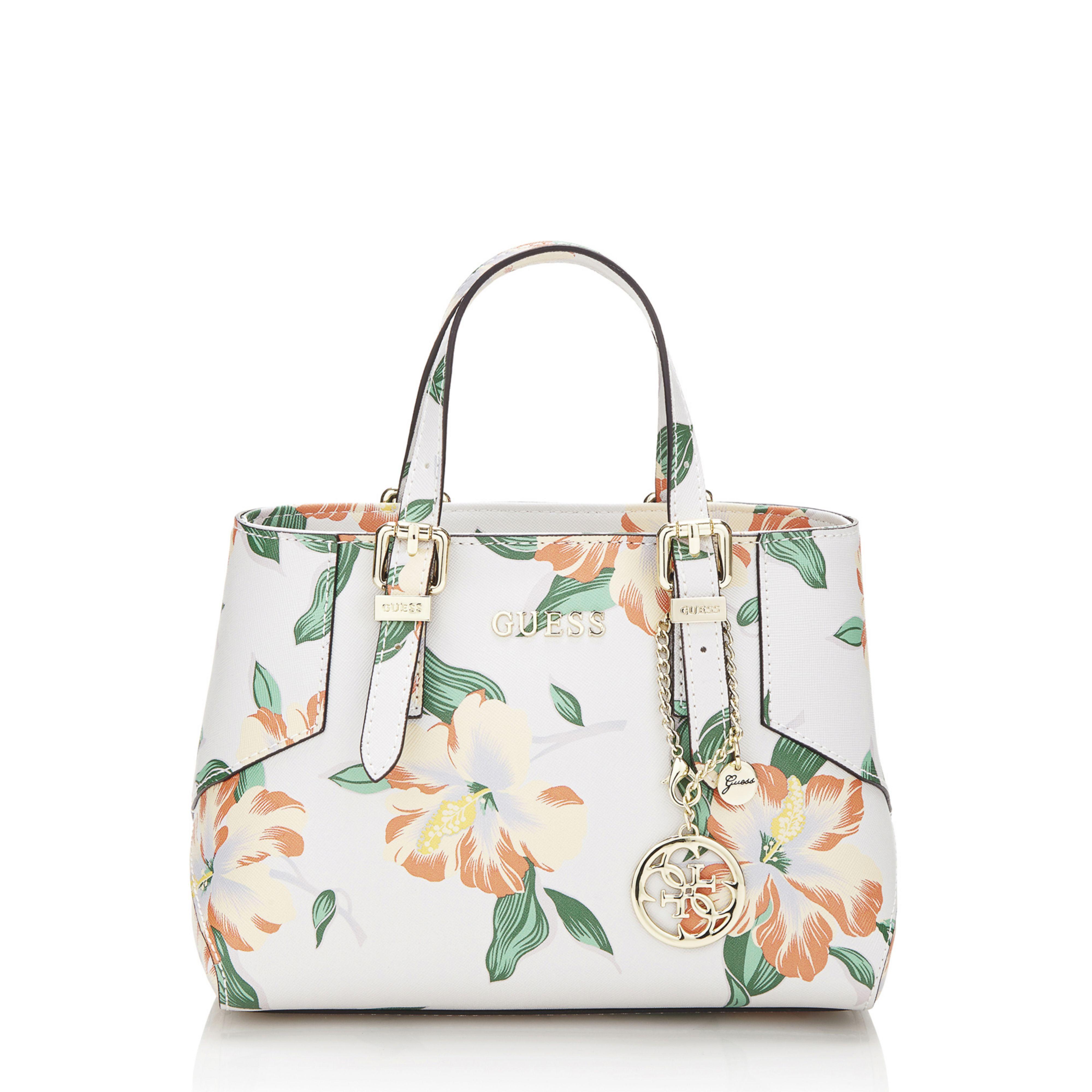 Guess Isabeau Small Floral Handbag | Lyst