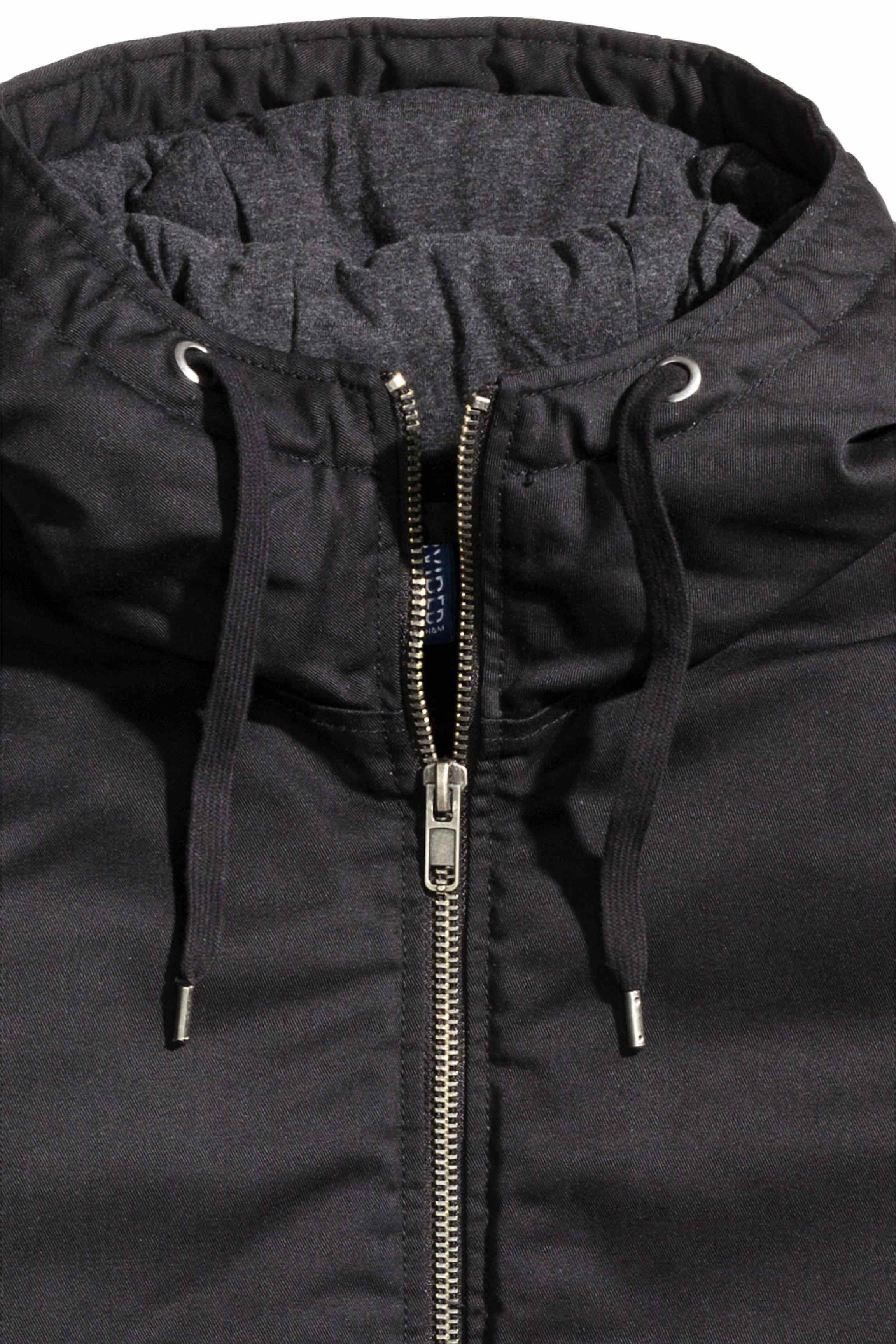 H&M Synthetic Padded Jacket in Black for Men