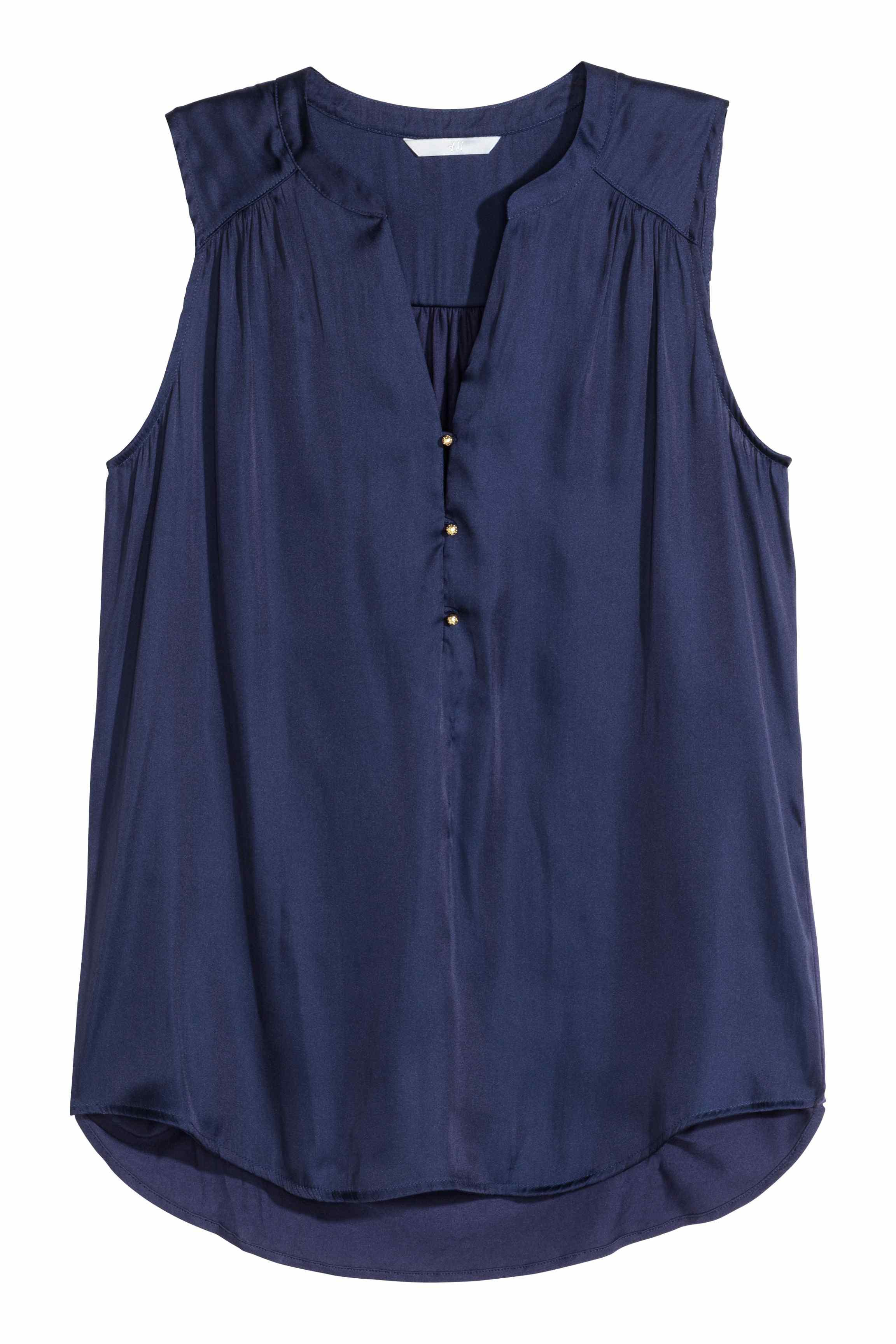 h m blouse sale blue denim blouses. Black Bedroom Furniture Sets. Home Design Ideas