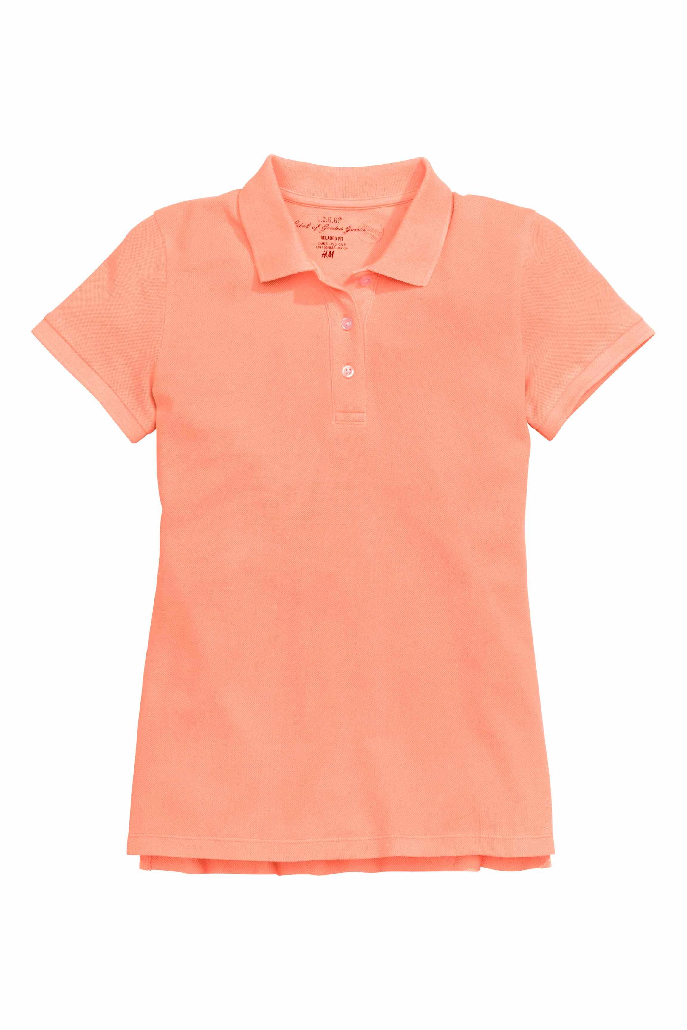 H m polo shirt in orange lyst for H m polo shirt womens