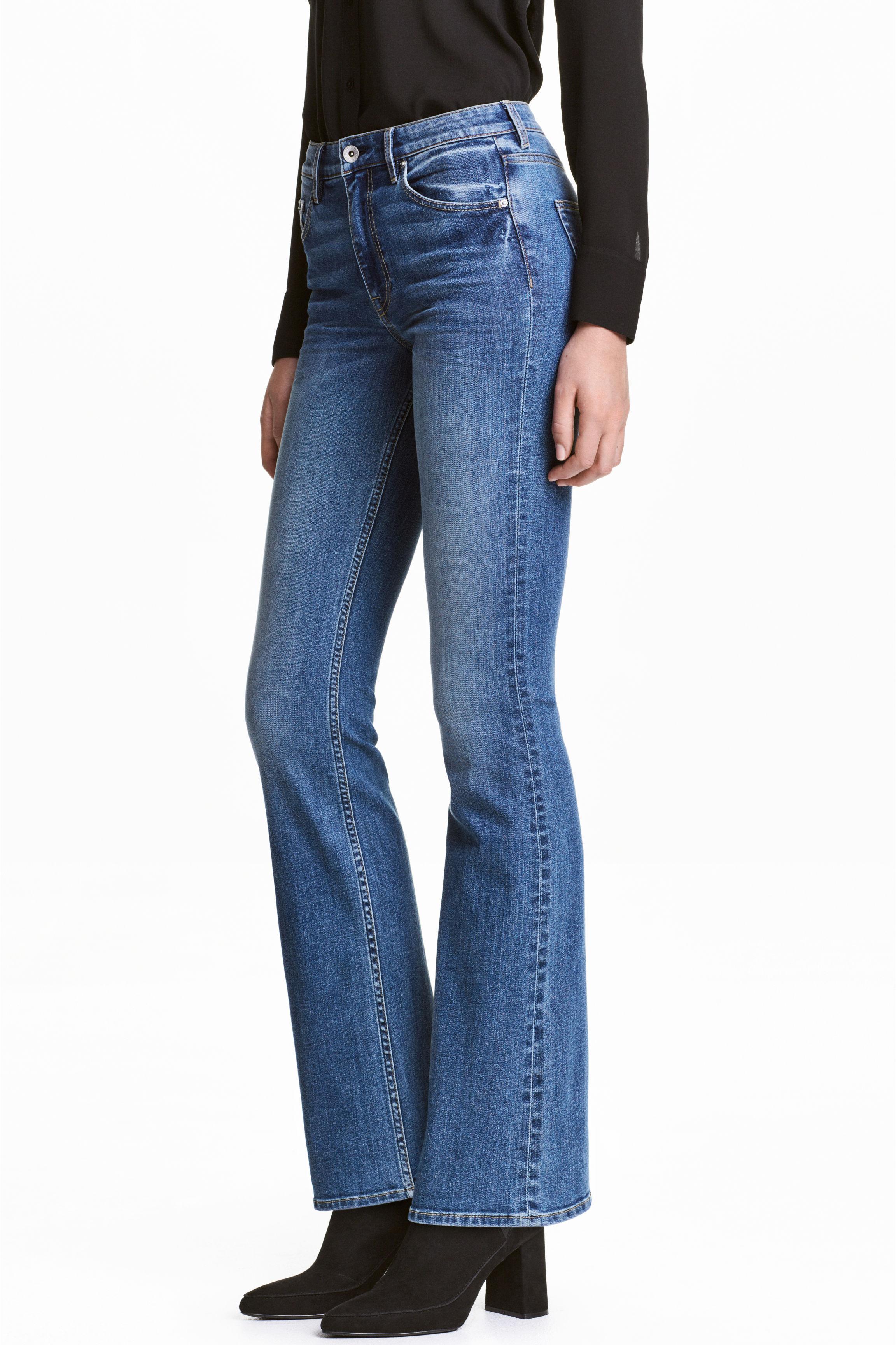 h m boot cut regular jeans in blue lyst. Black Bedroom Furniture Sets. Home Design Ideas