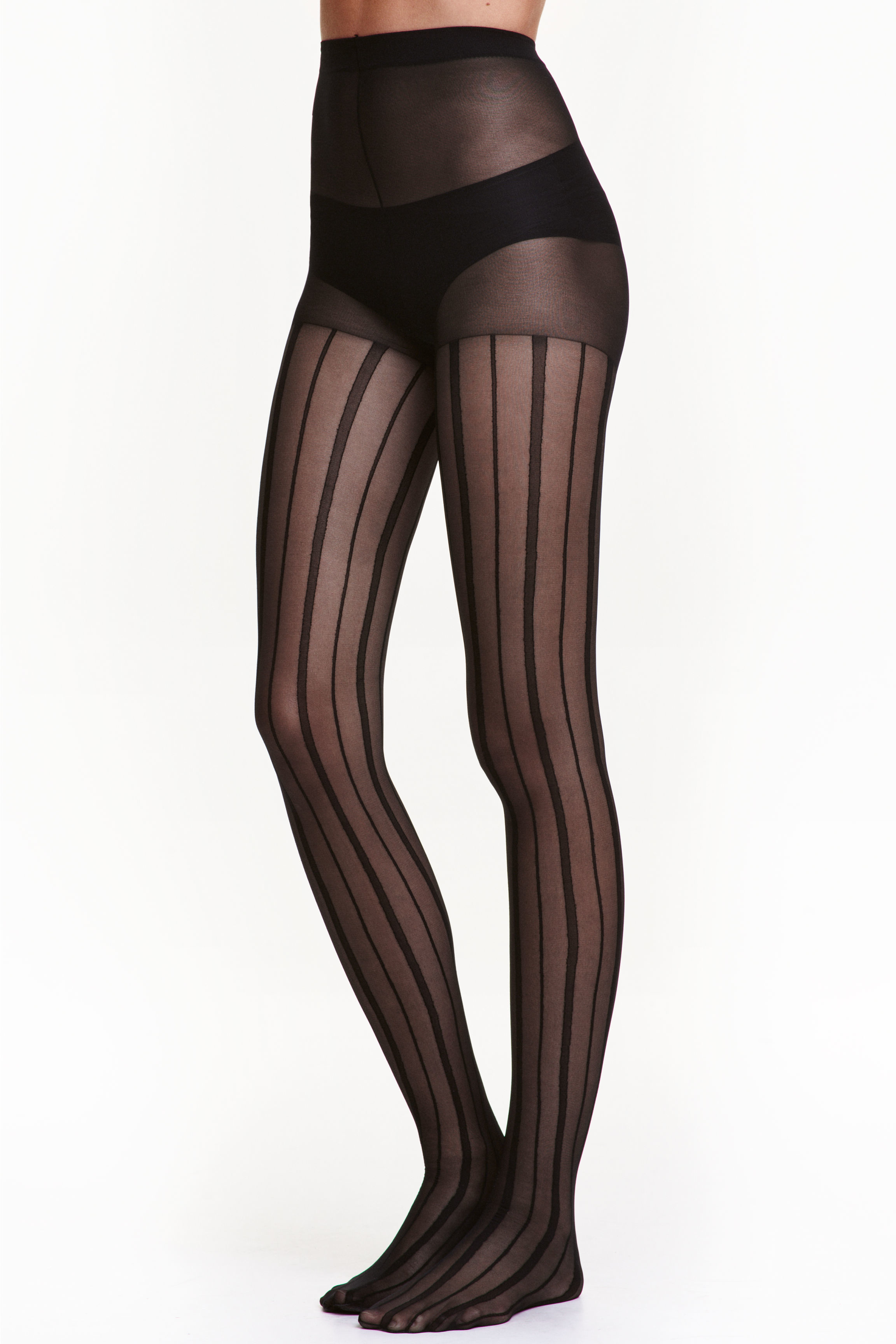 H&m Striped Tights in Black
