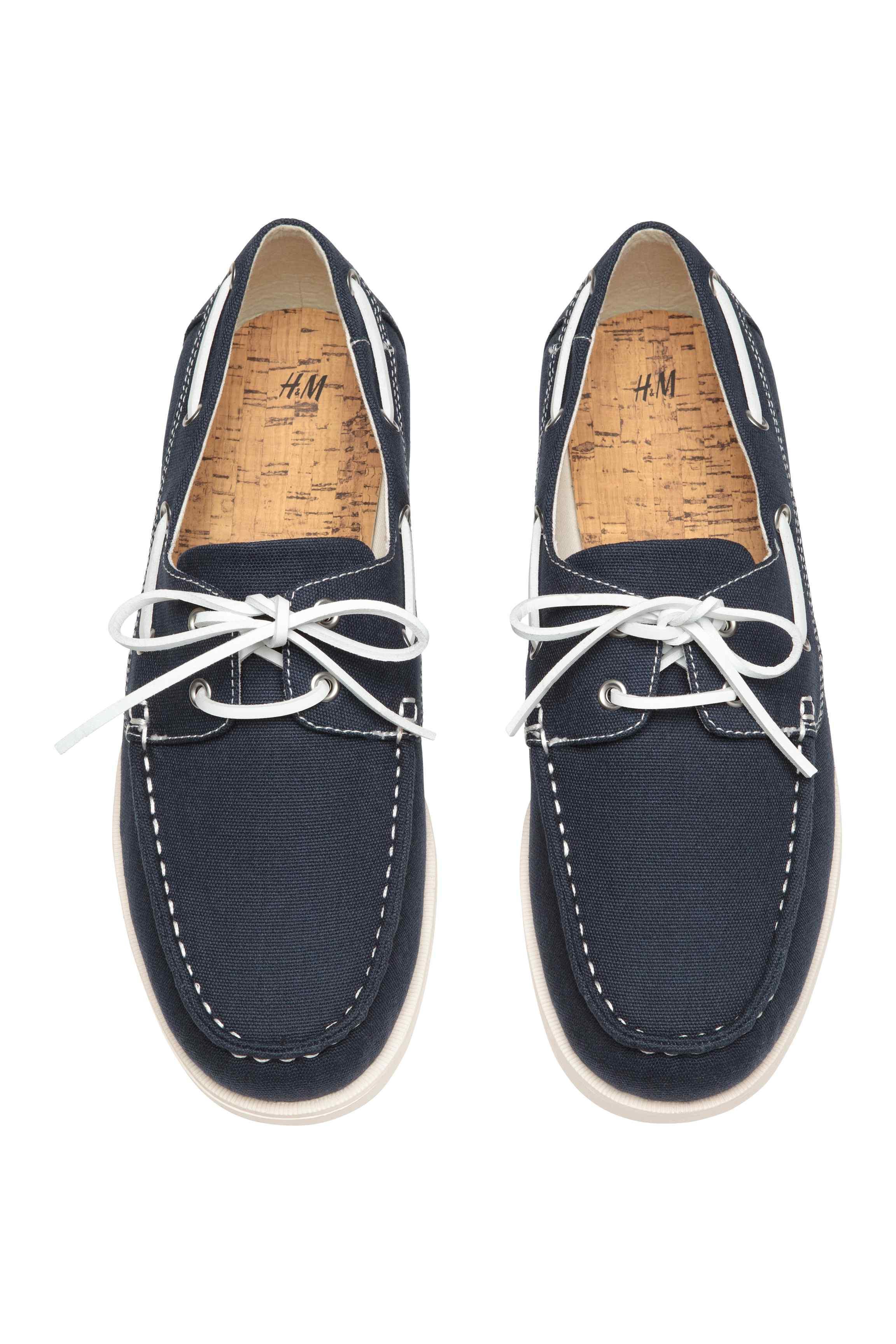 H&M Canvas Deck Shoes in Dark Blue (Blue) for Men