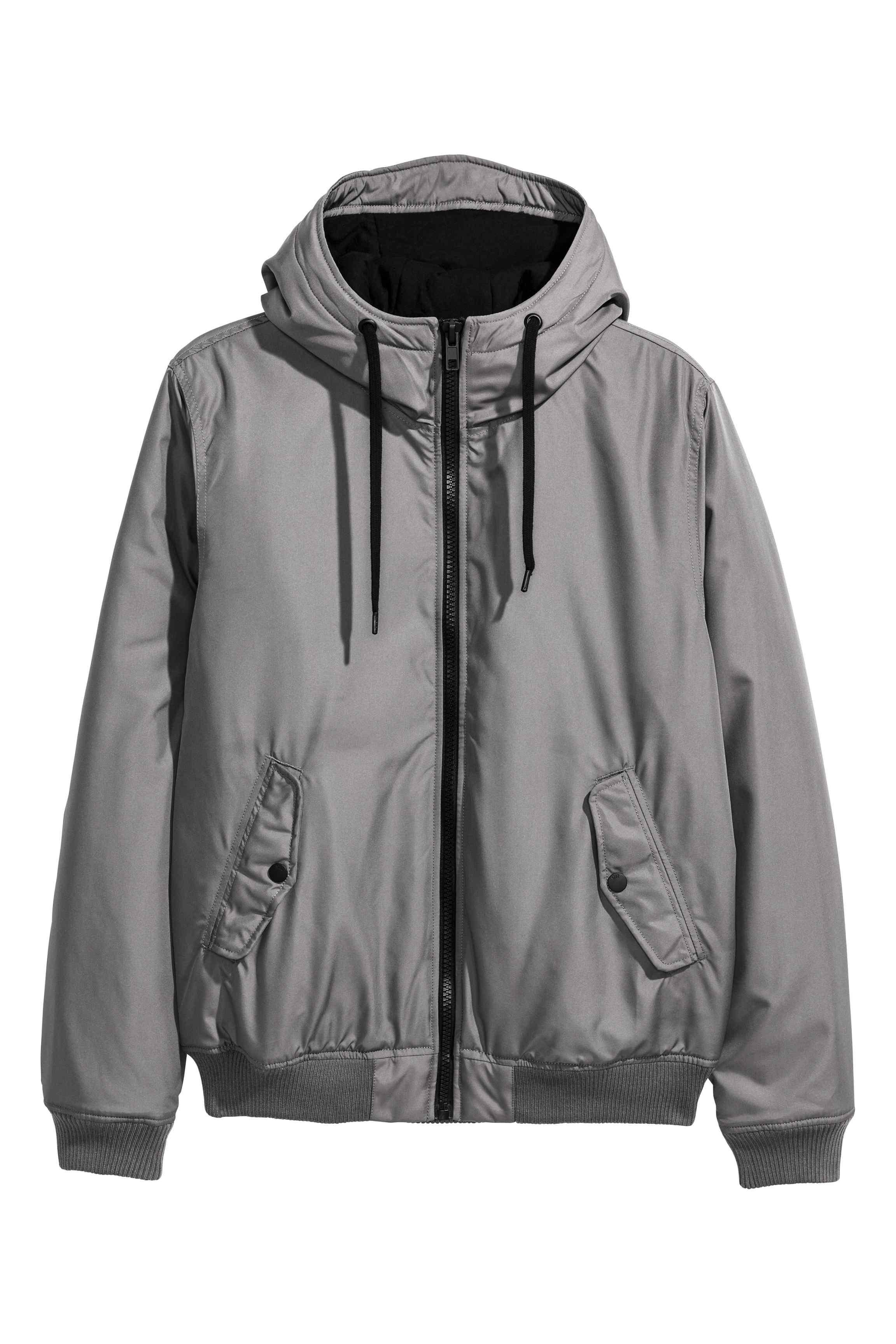 H&M Synthetic Padded Jacket in Grey (Grey) for Men