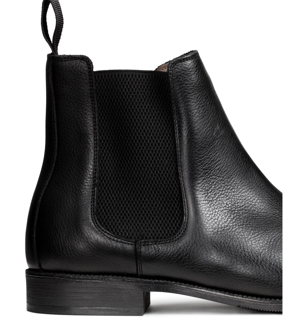h m chelsea boots in black for lyst
