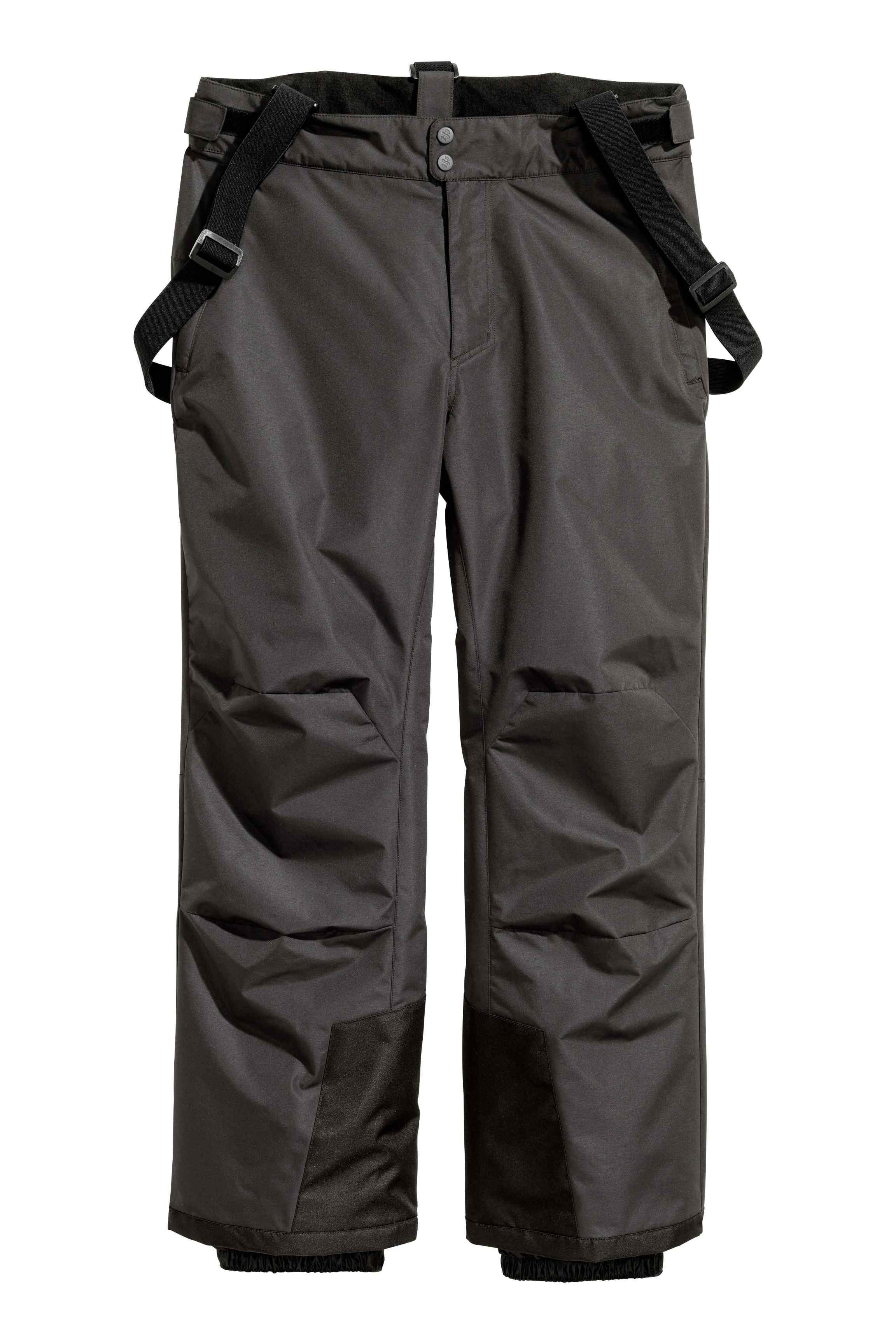 H&M Synthetic Ski Trousers With Braces in Black for Men