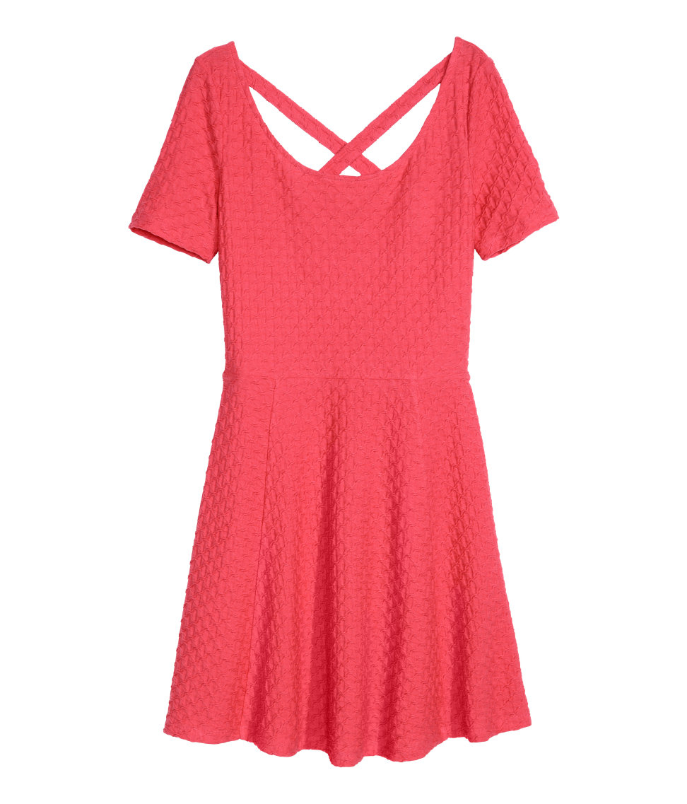 h m textured dress in lyst