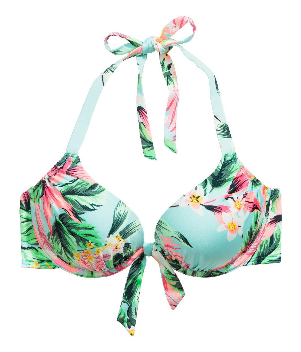 cd4041a76a01 Lyst - H M Super Push-up Bikini Top