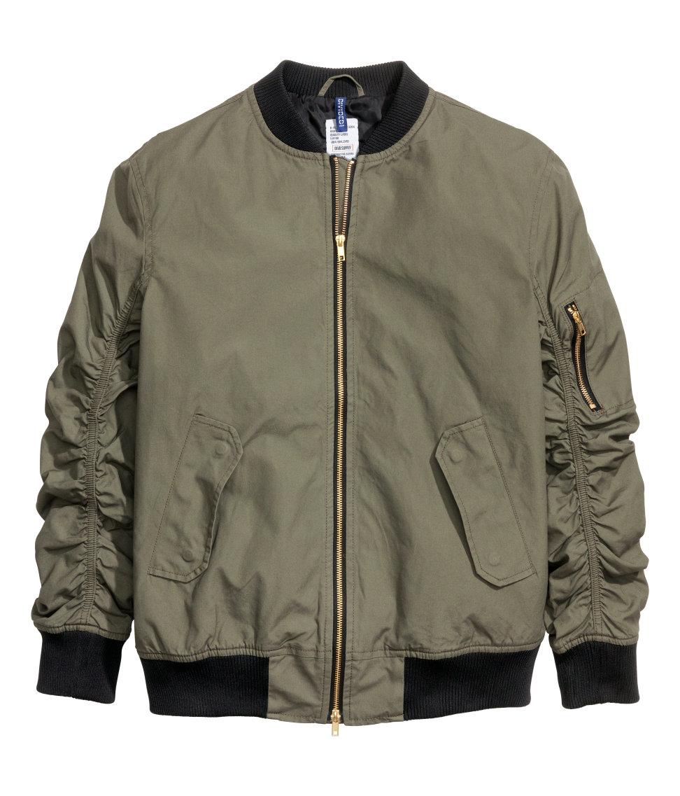 Hu0026m Bomber Jacket In Green For Men | Lyst