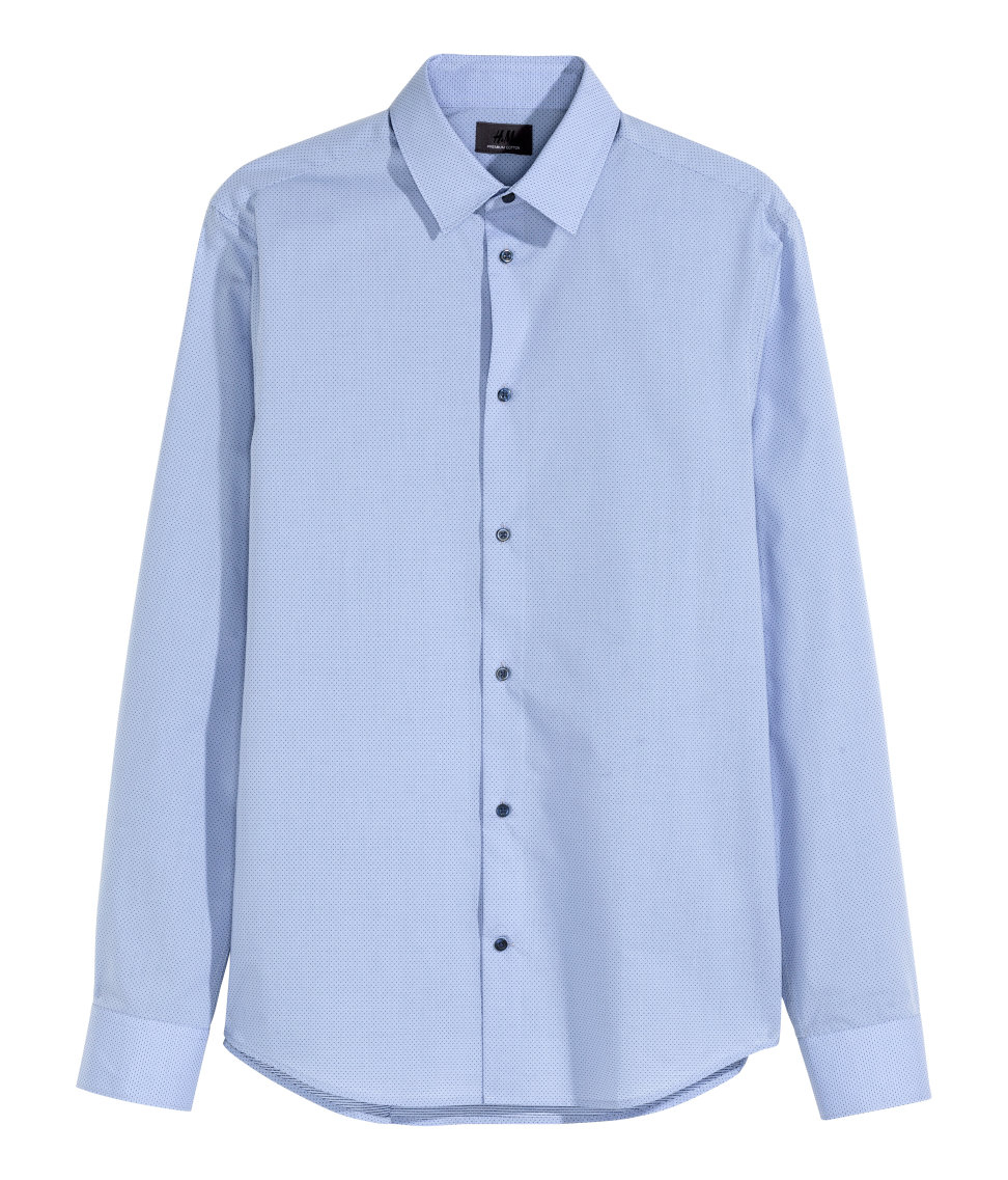Lyst H Amp M Shirt In Premium Cotton In Blue For Men