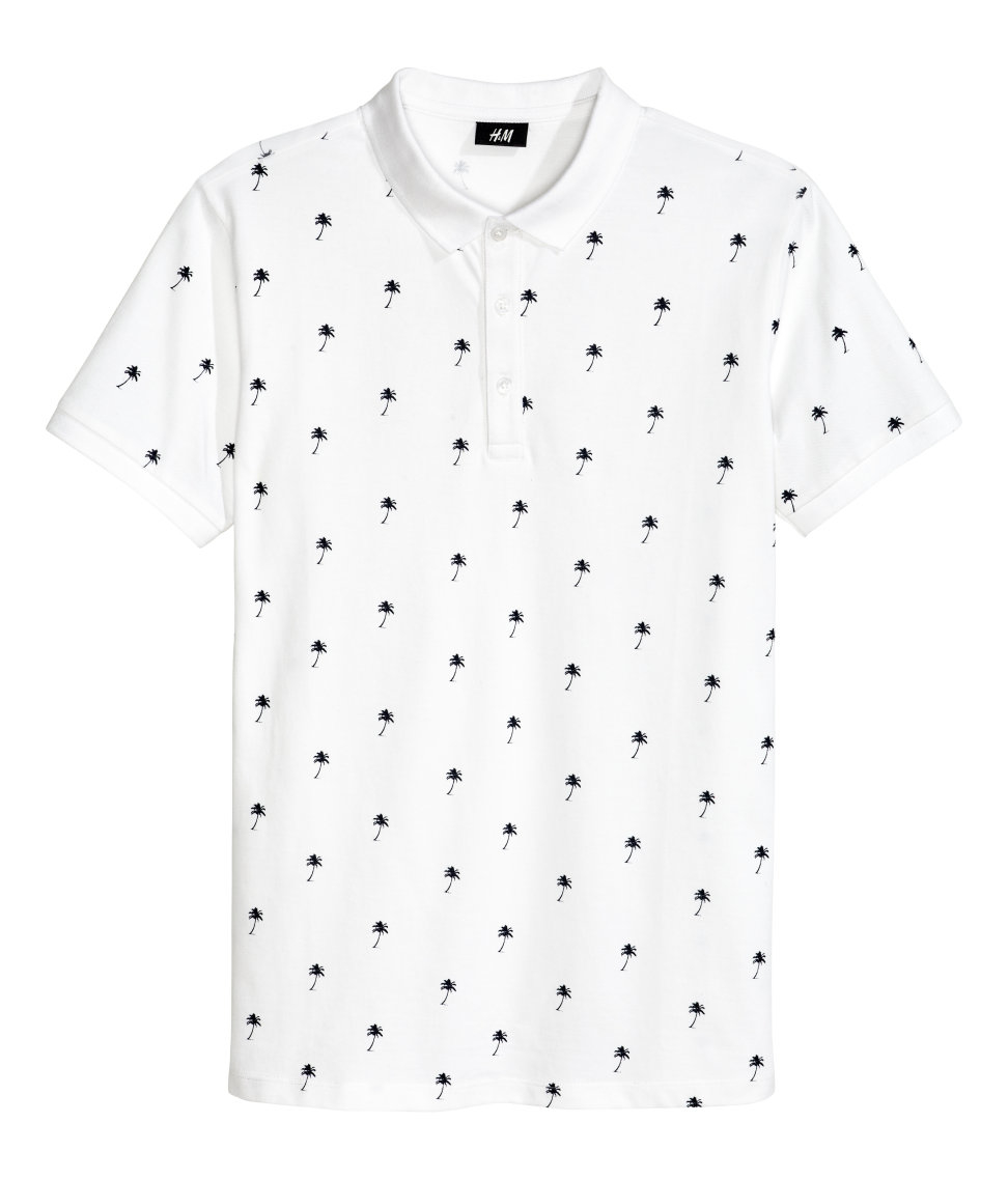 H m polo shirt in white for men lyst for H m polo shirt womens