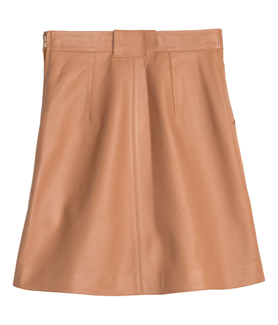 h m leather skirt in lyst