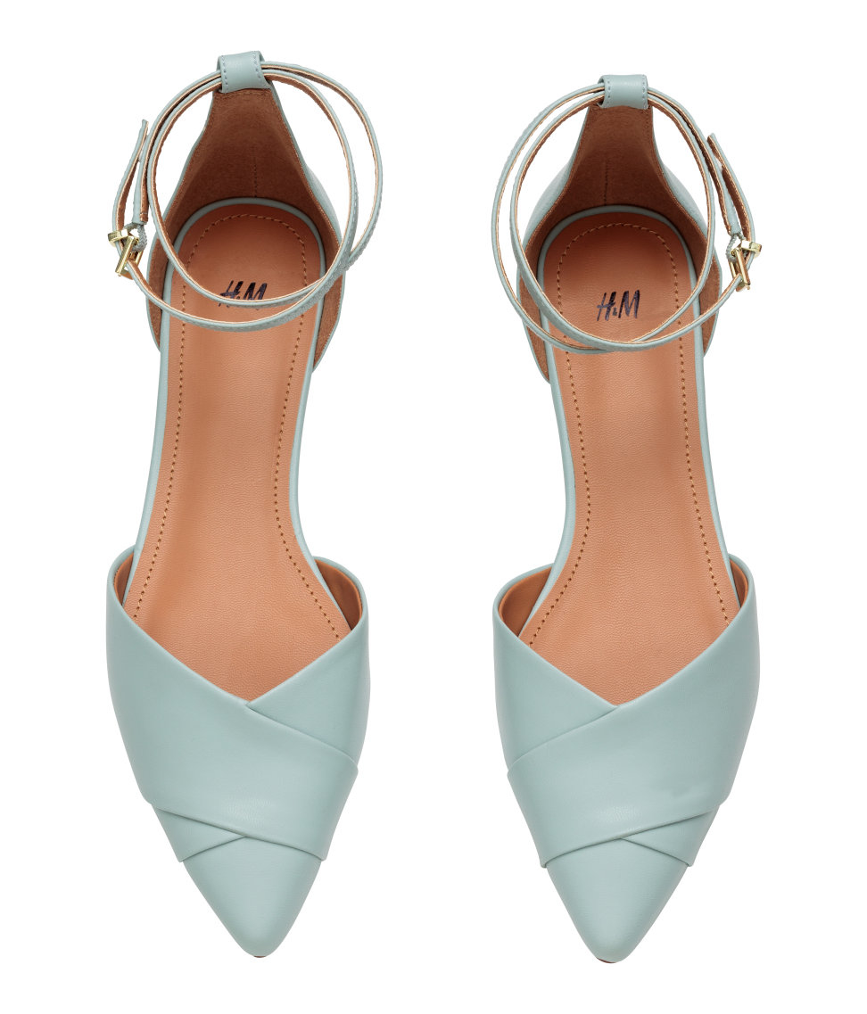 h m flat court shoes with in blue lyst