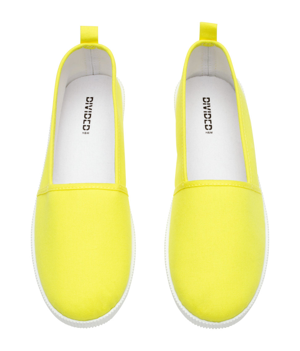 h m slip on shoes in yellow lyst