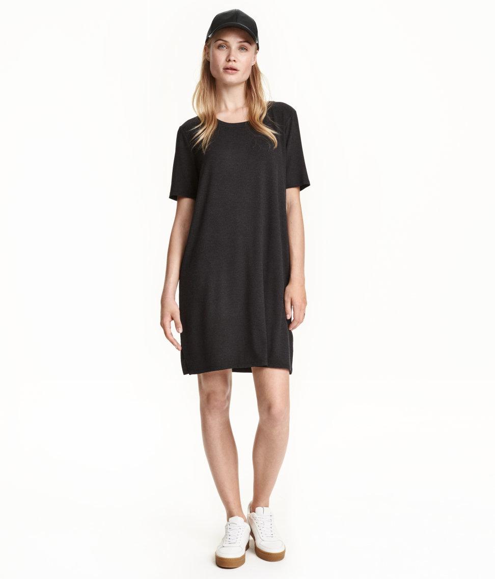 Lyst - H&M T-shirt Dress in Gray