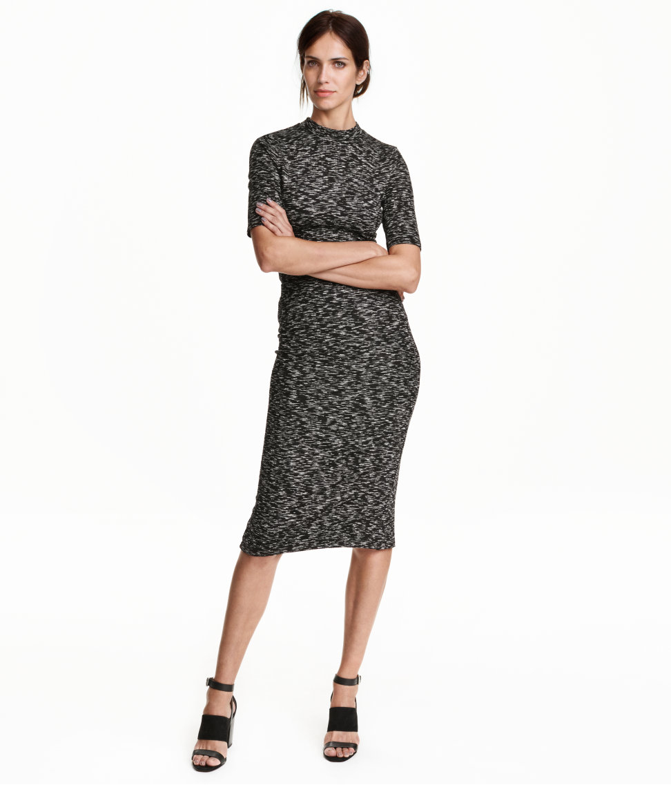 h m marled pencil skirt in gray black white save 40