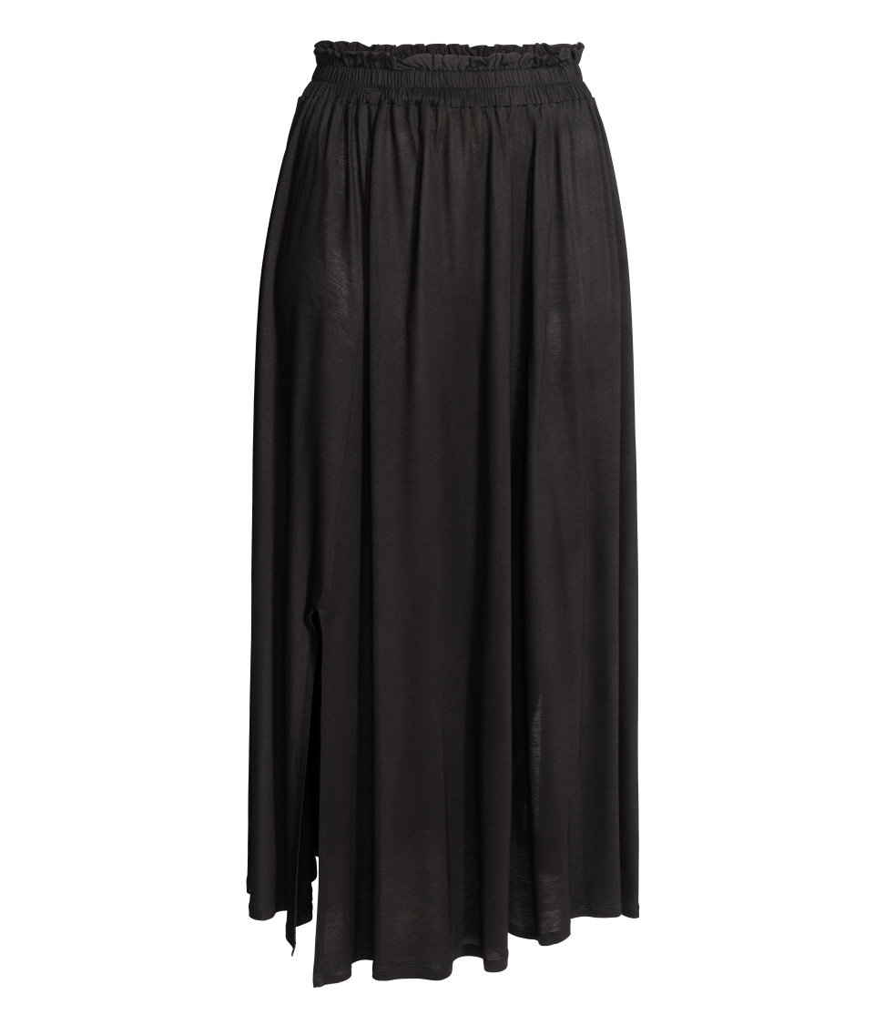 h m jersey maxi skirt in black lyst