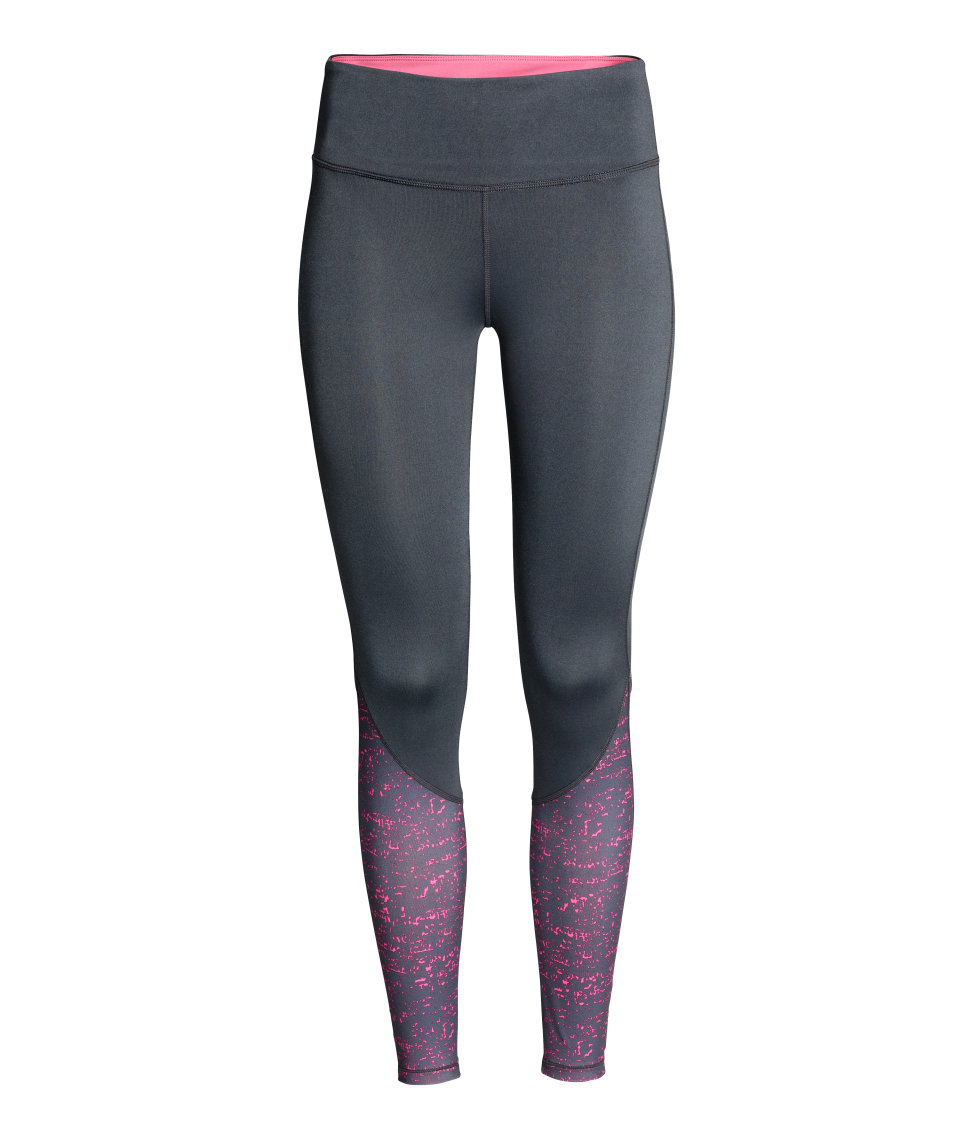 h m sports tights in gray lyst. Black Bedroom Furniture Sets. Home Design Ideas