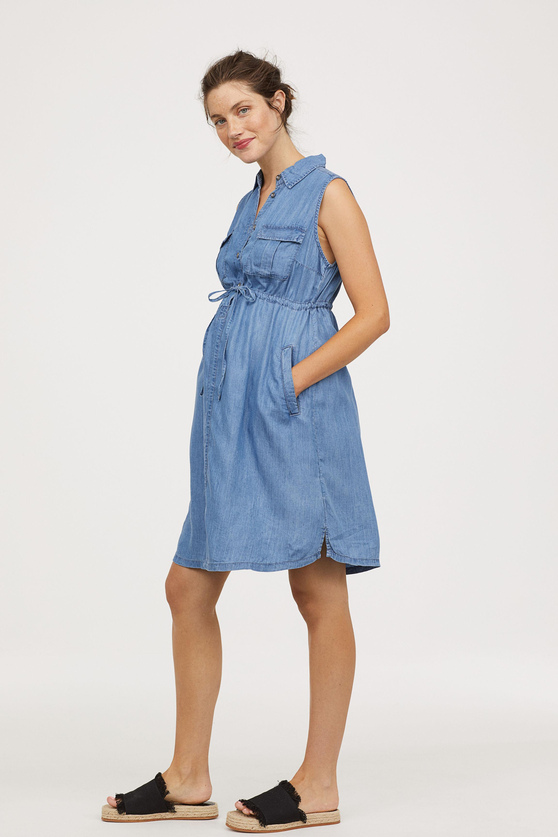51628554472 H M Mama Utility Dress in Blue - Lyst