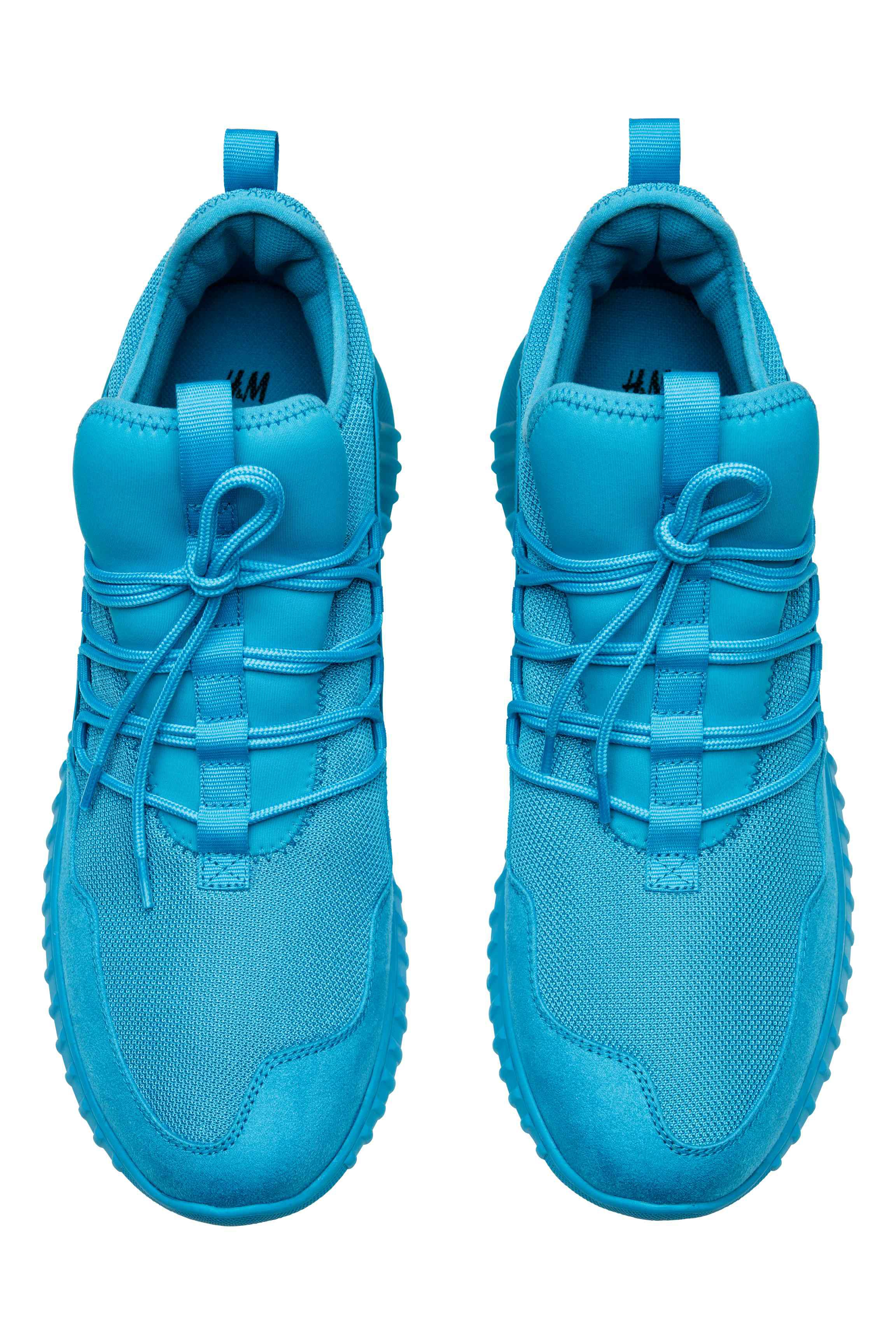 H&M Rubber Mesh Sneakers in Turquoise (Blue) for Men