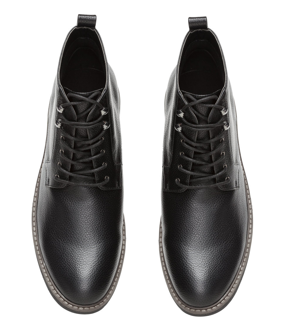 h m chukka boots in black for lyst